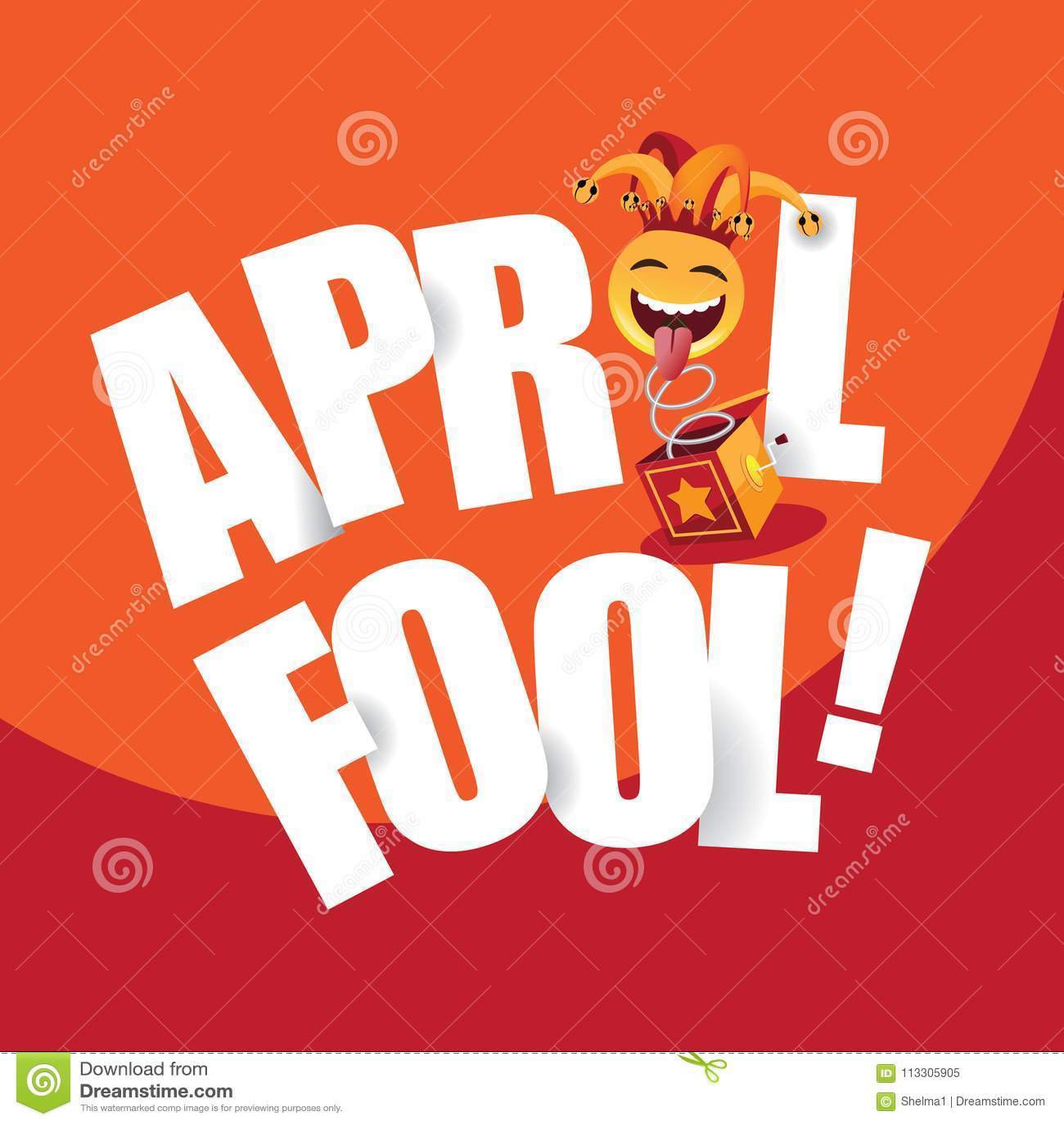 Glückliches April Fools Day-Design Stock Abbildung - Illustration von  kasten, lächeln: 113305905