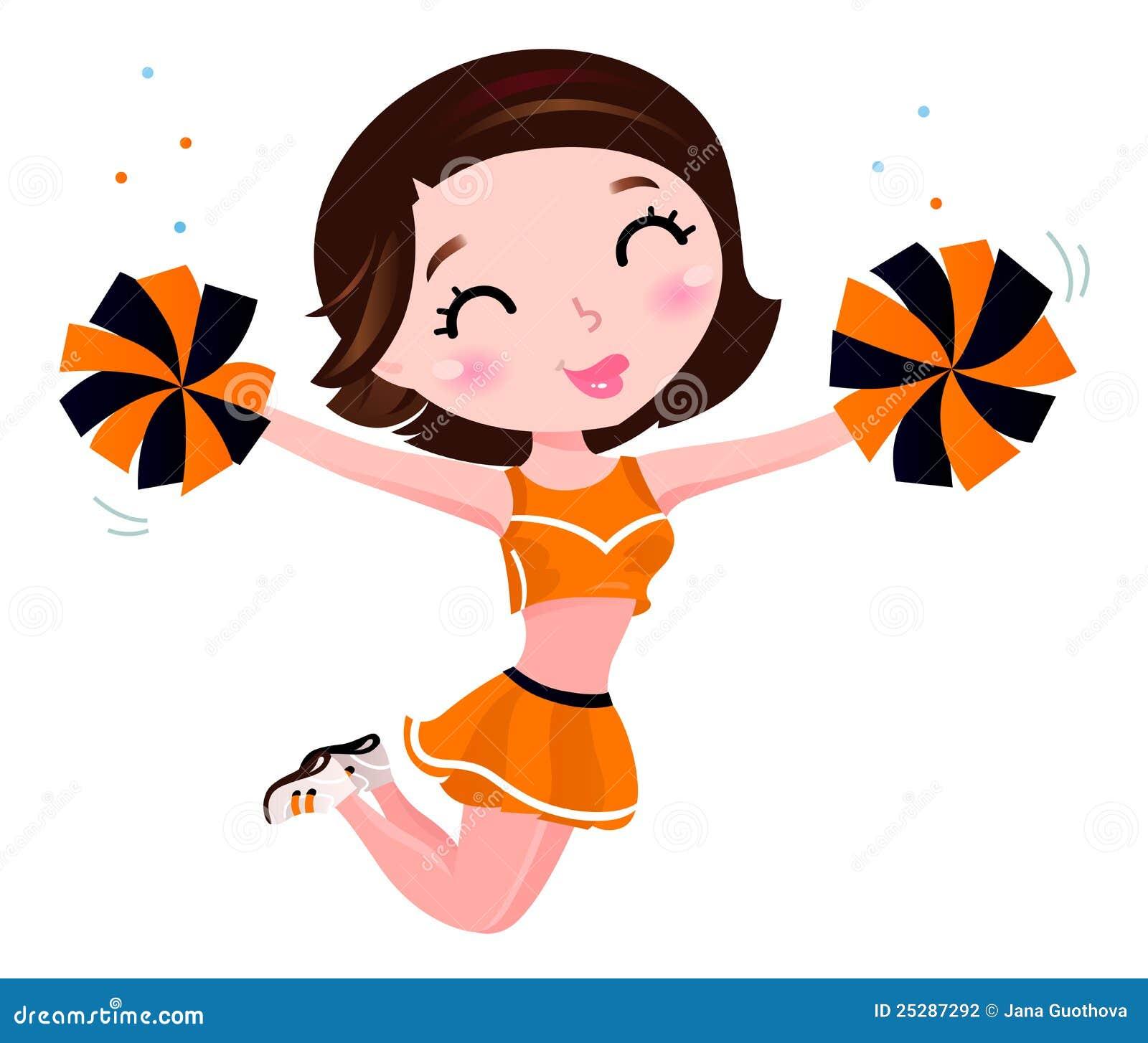 Glückliches Cheerleadermädchen