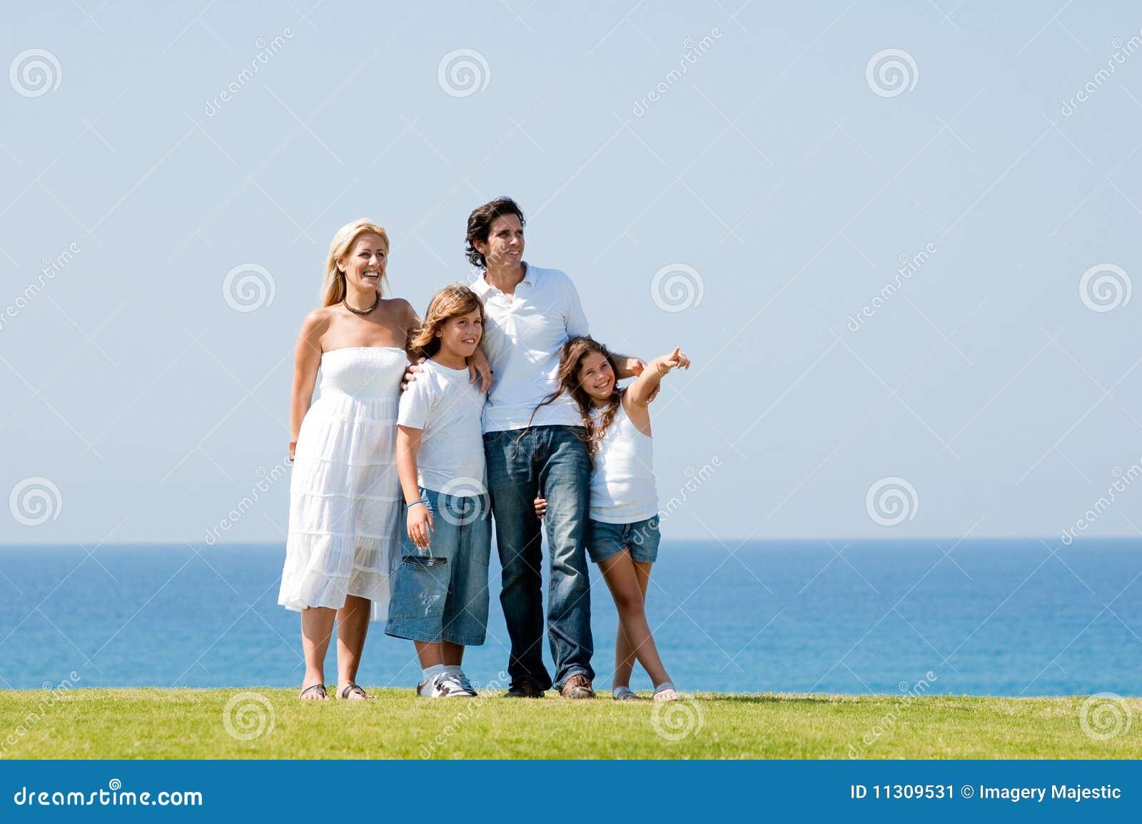 Glückliches Familienportrait