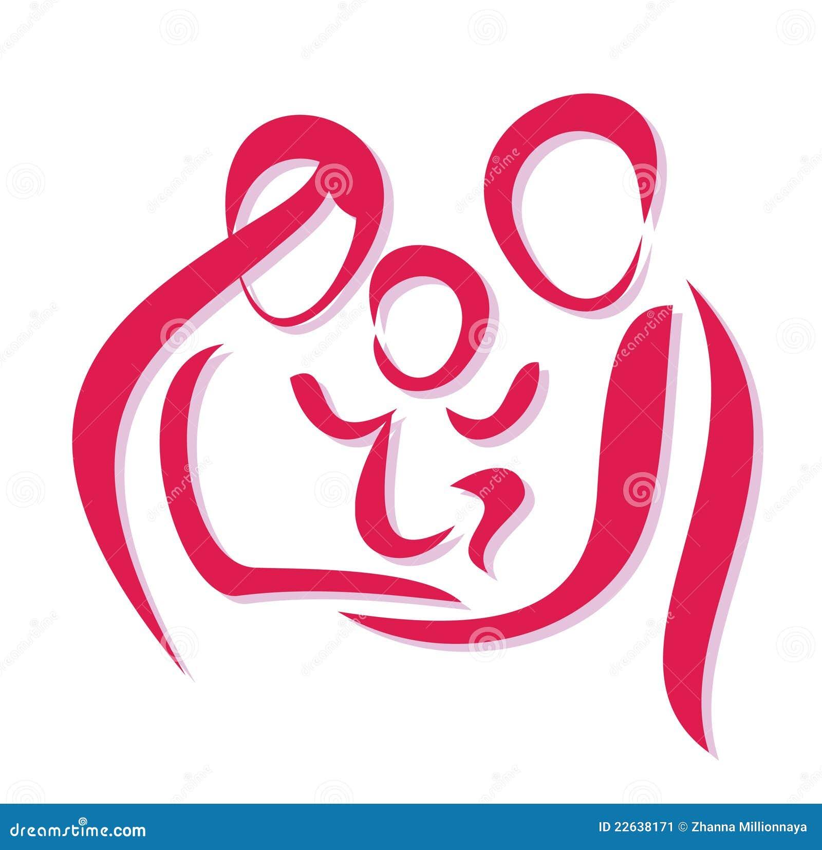 Glückliches Familiensymbol