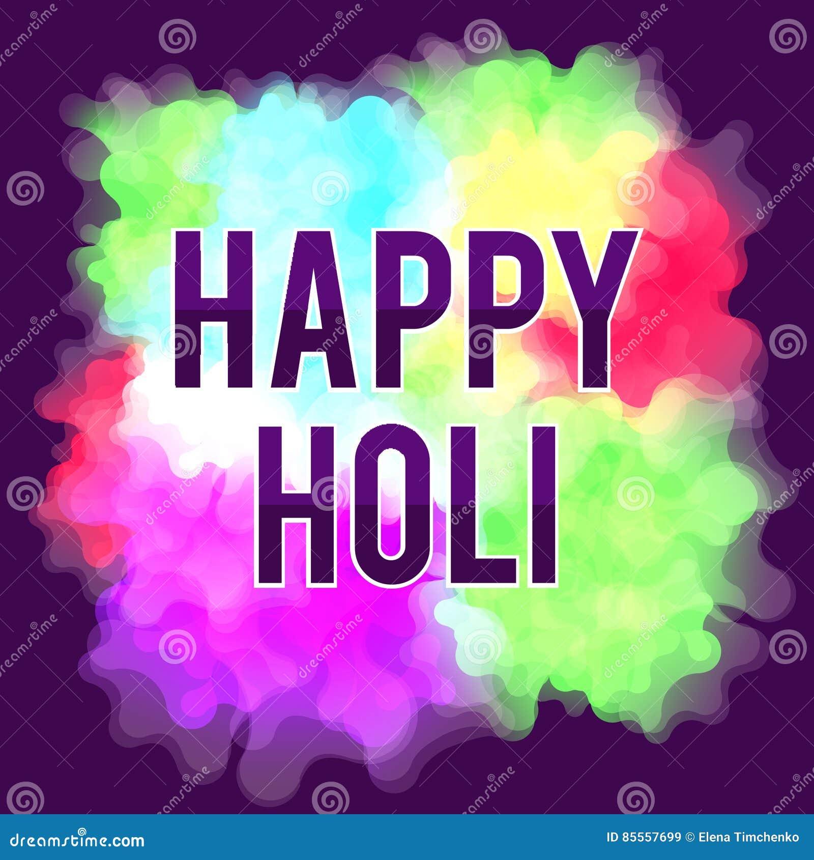 Glückliches Holi-Frühlingsfest Bunter Hintergrund für die Feiertagsfarben Abstraktes Muster