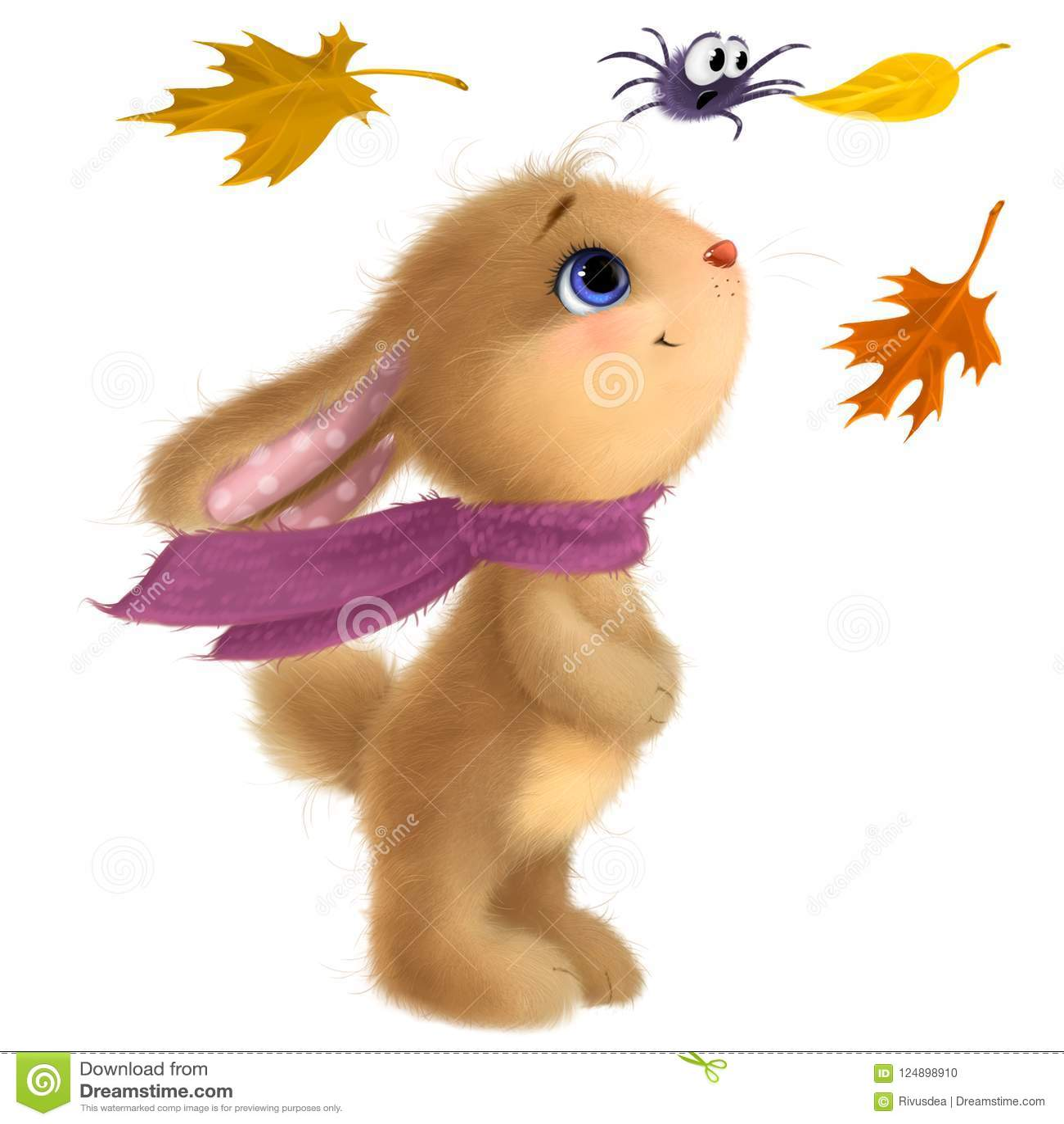 Glückliches Kaninchenillustration Clipart Mittler Herbst Festival