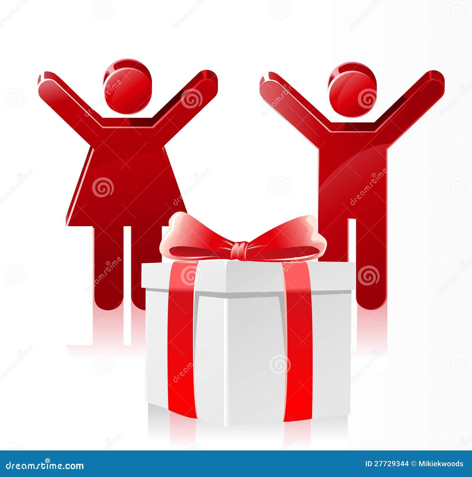 Glückliches Kind-Weihnachtsgeschenk