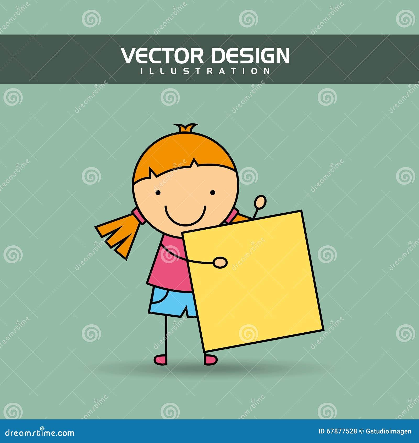 Glückliches Kinderdesign