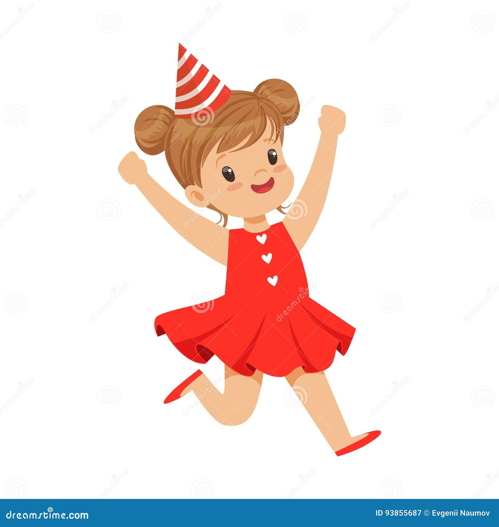 Glückliches Lächelndes Baby, Das Ein Rotes Kleider- Und ...