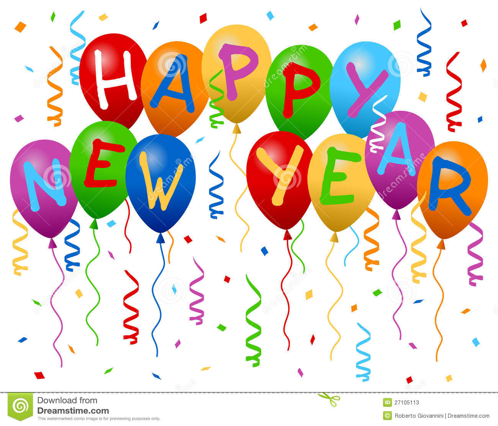 Glückliches neues Jahr Hinauftreiben von Aktienkursen Fahne