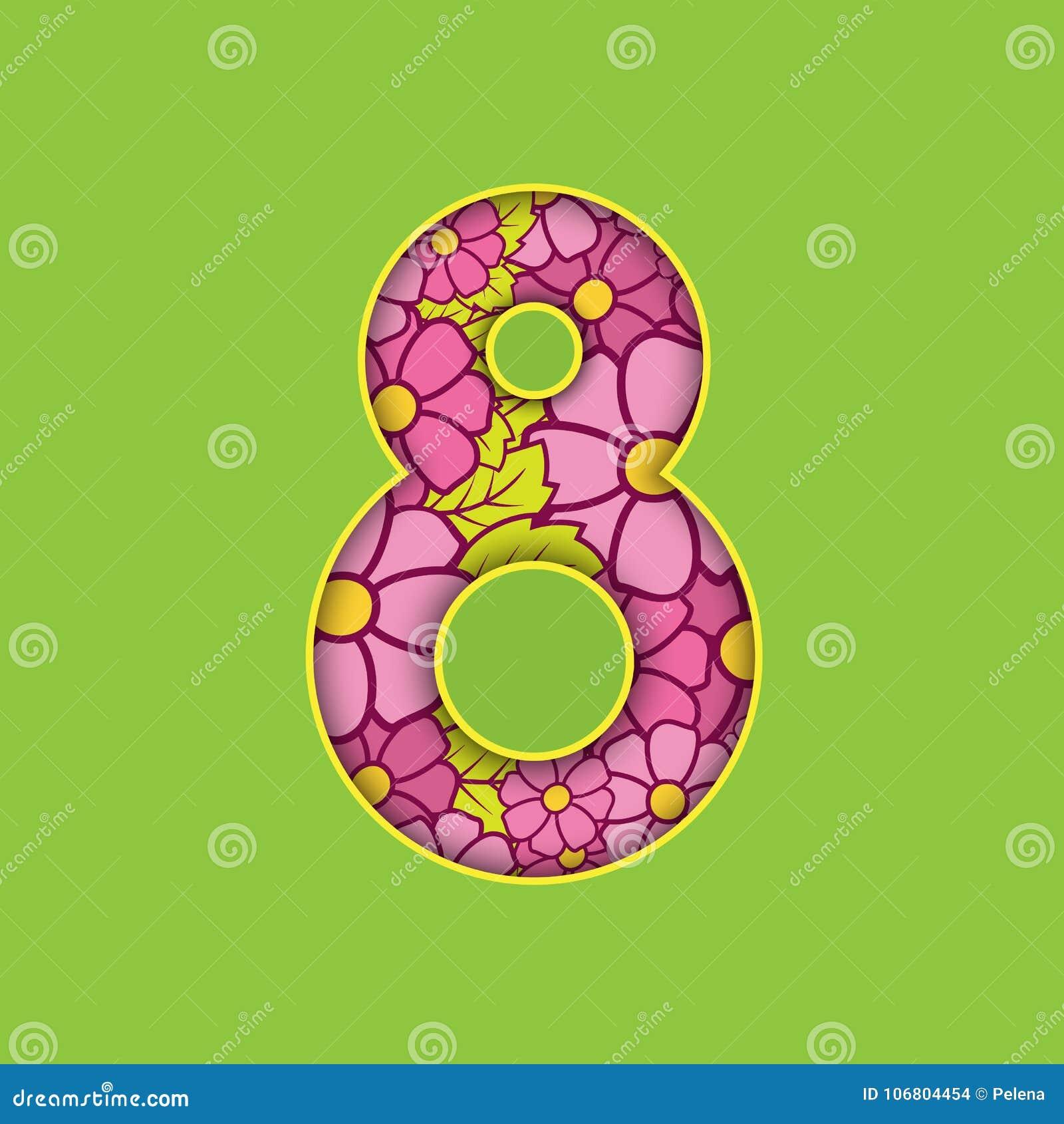 Download Glückliches Neues Jahr 2007 Internationaler Frauen ` S Tag Am 8. März Schöne Volumetrische Zahl Vektor Abbildung - Illustration von elegant, feiertag: 106804454