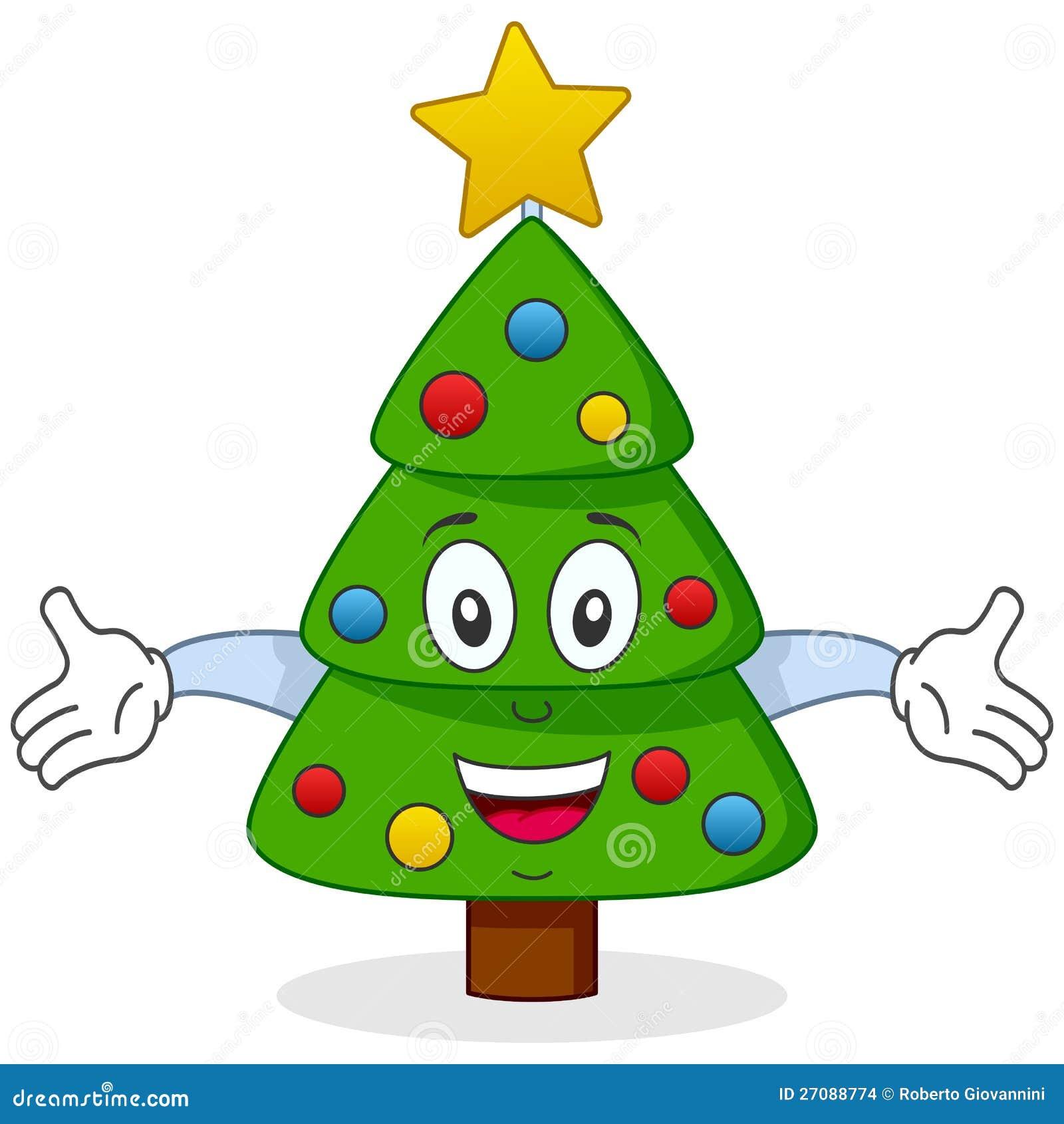 gl ckliches weihnachtsbaum zeichen vektor abbildung. Black Bedroom Furniture Sets. Home Design Ideas