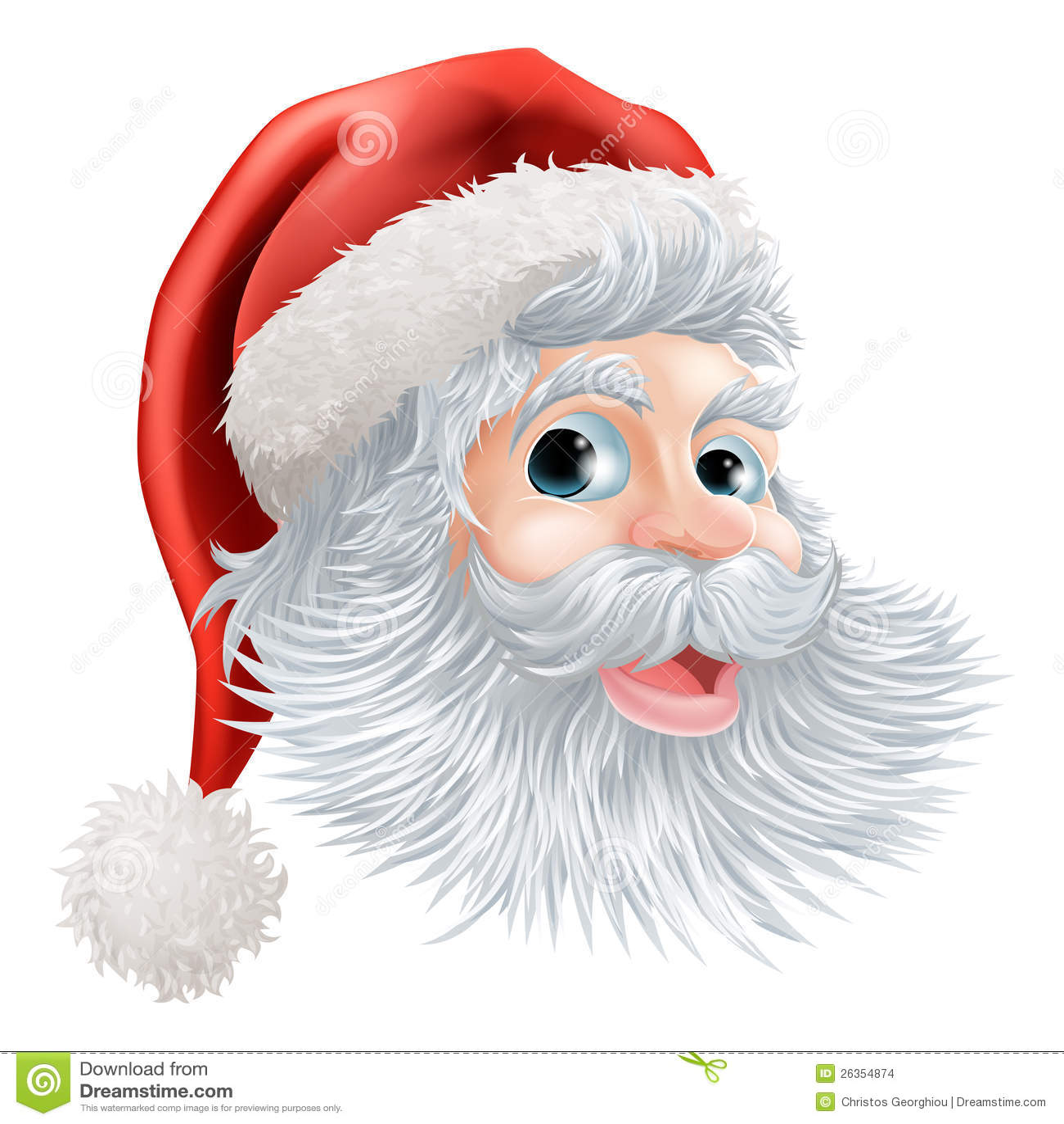 Glückliches Weihnachtssankt-Gesicht