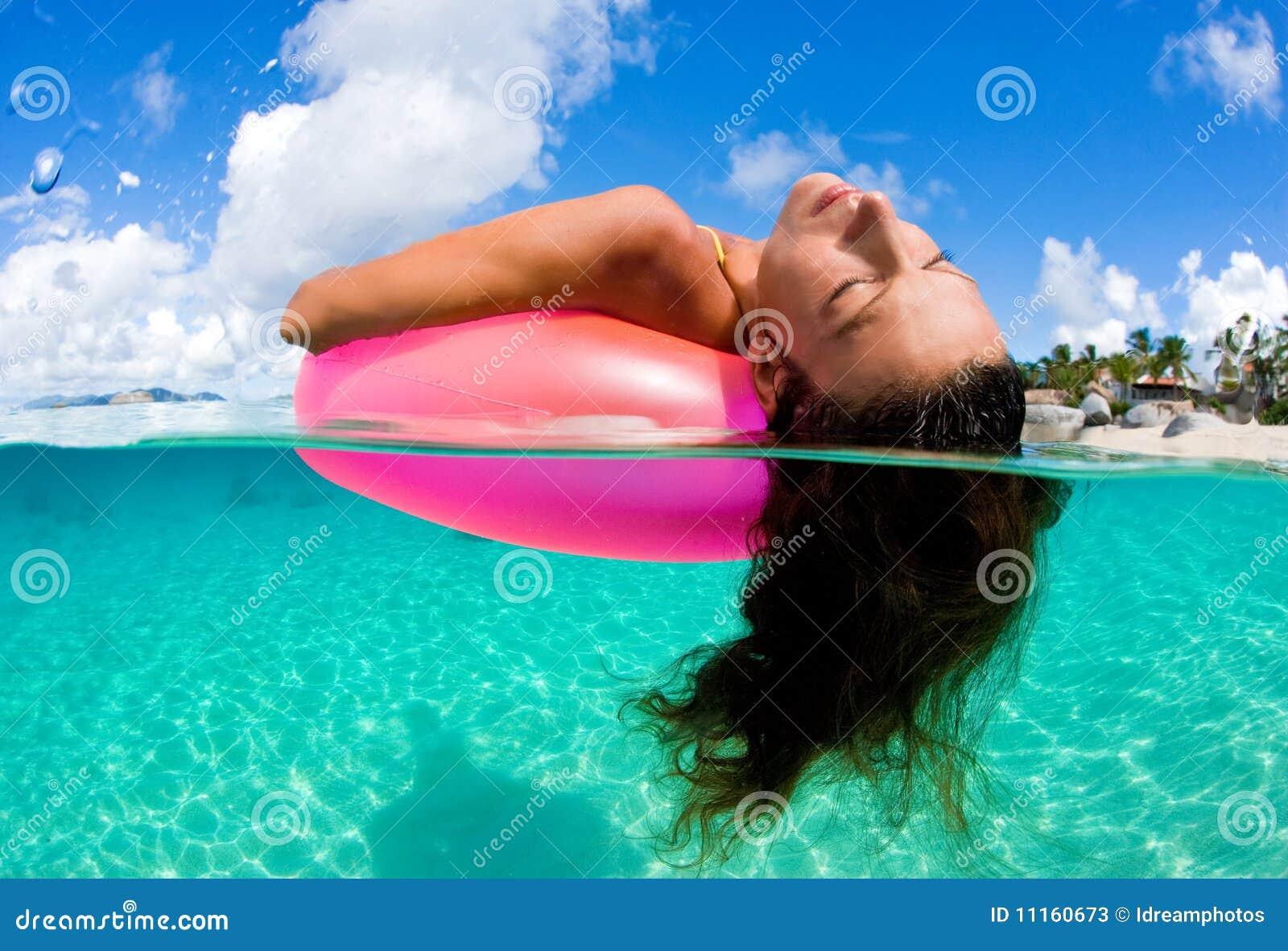 Glücksschwimmen