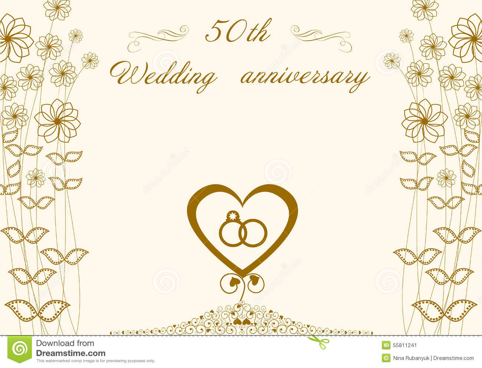Glückwünsche Zur Goldenen Hochzeit 50 Stock Abbildung