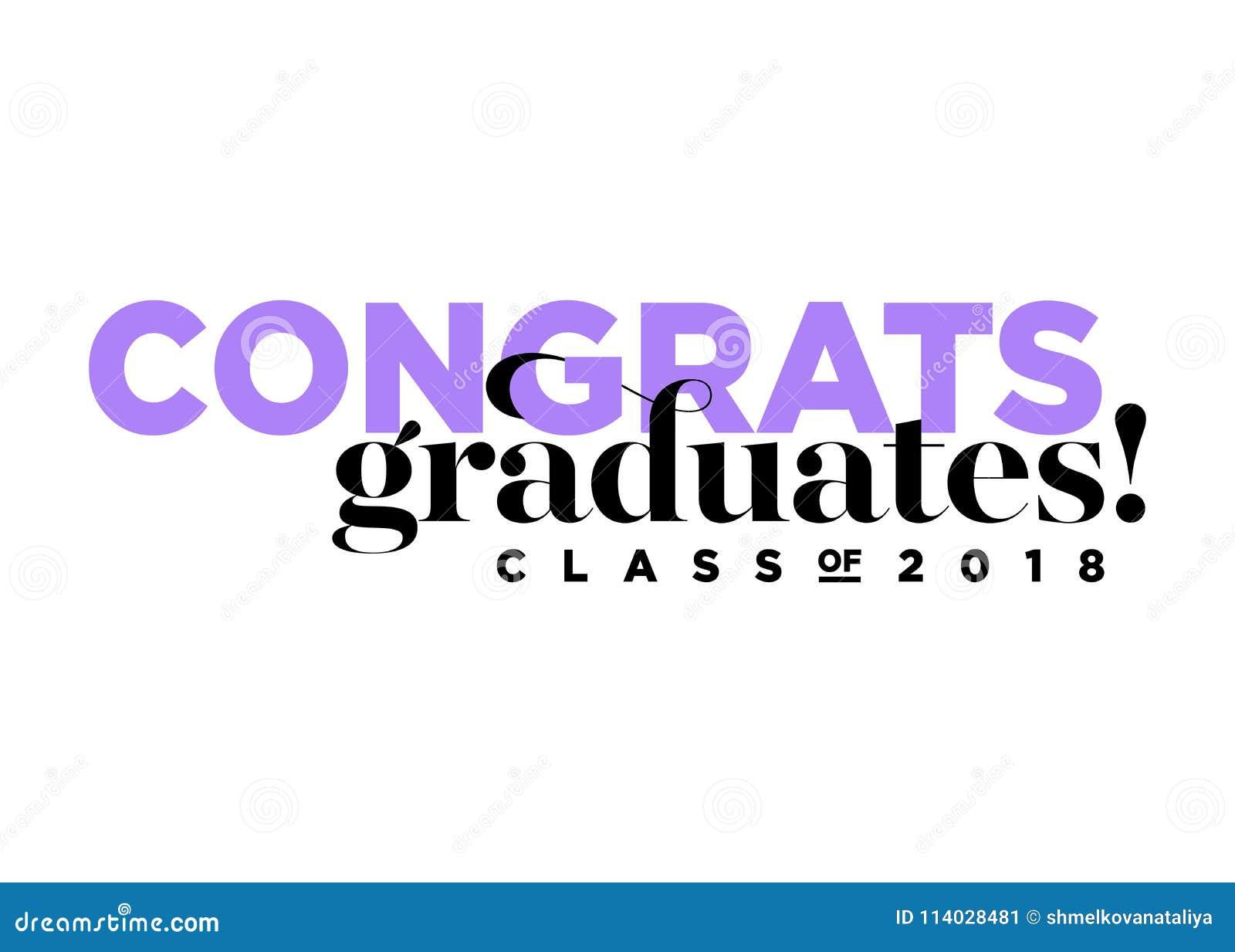 Glückwunsch Absolvent Klasse Des 2018 Vektor Logos Vektor