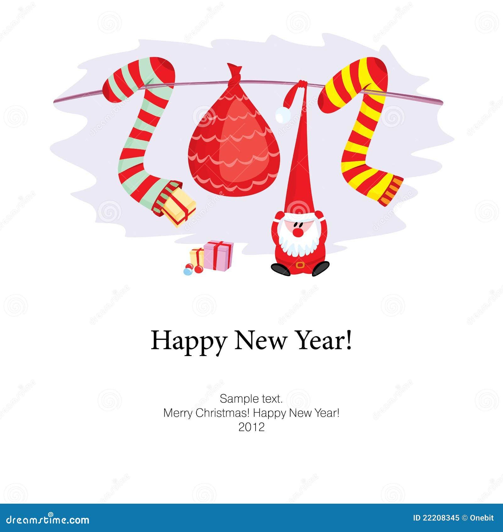 Glückwunsch-glückliches Neues Jahr Vektor Abbildung - Illustration ...