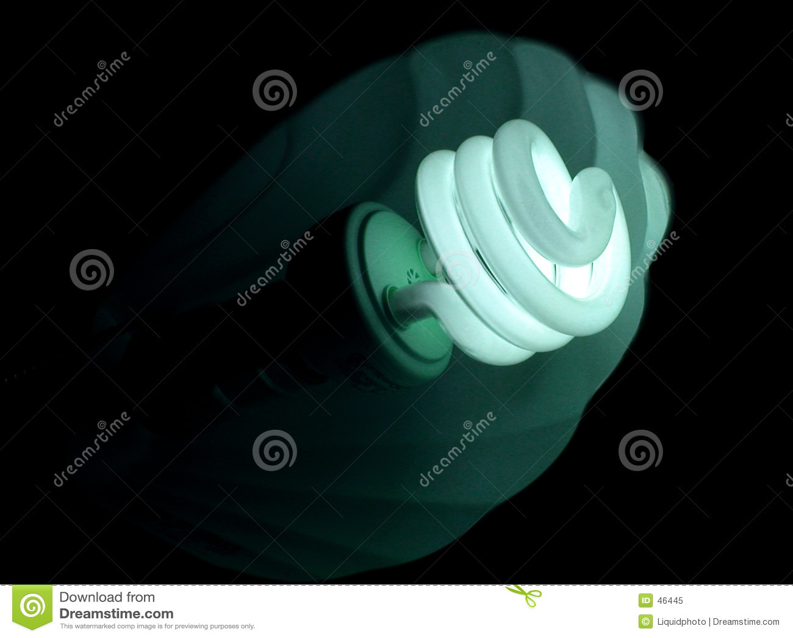 Glühlampe-blaues Grün