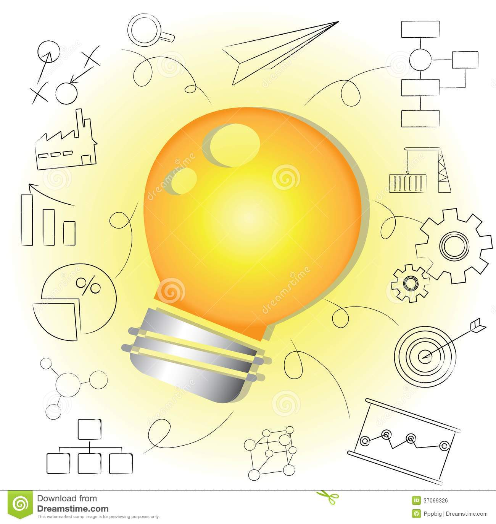 Glühlampe Der Idee, Kreative Lösung Stockfoto - Bild von ...