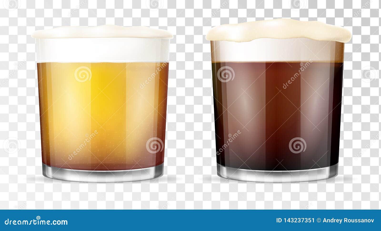 Glace de bière Cuvette transparente
