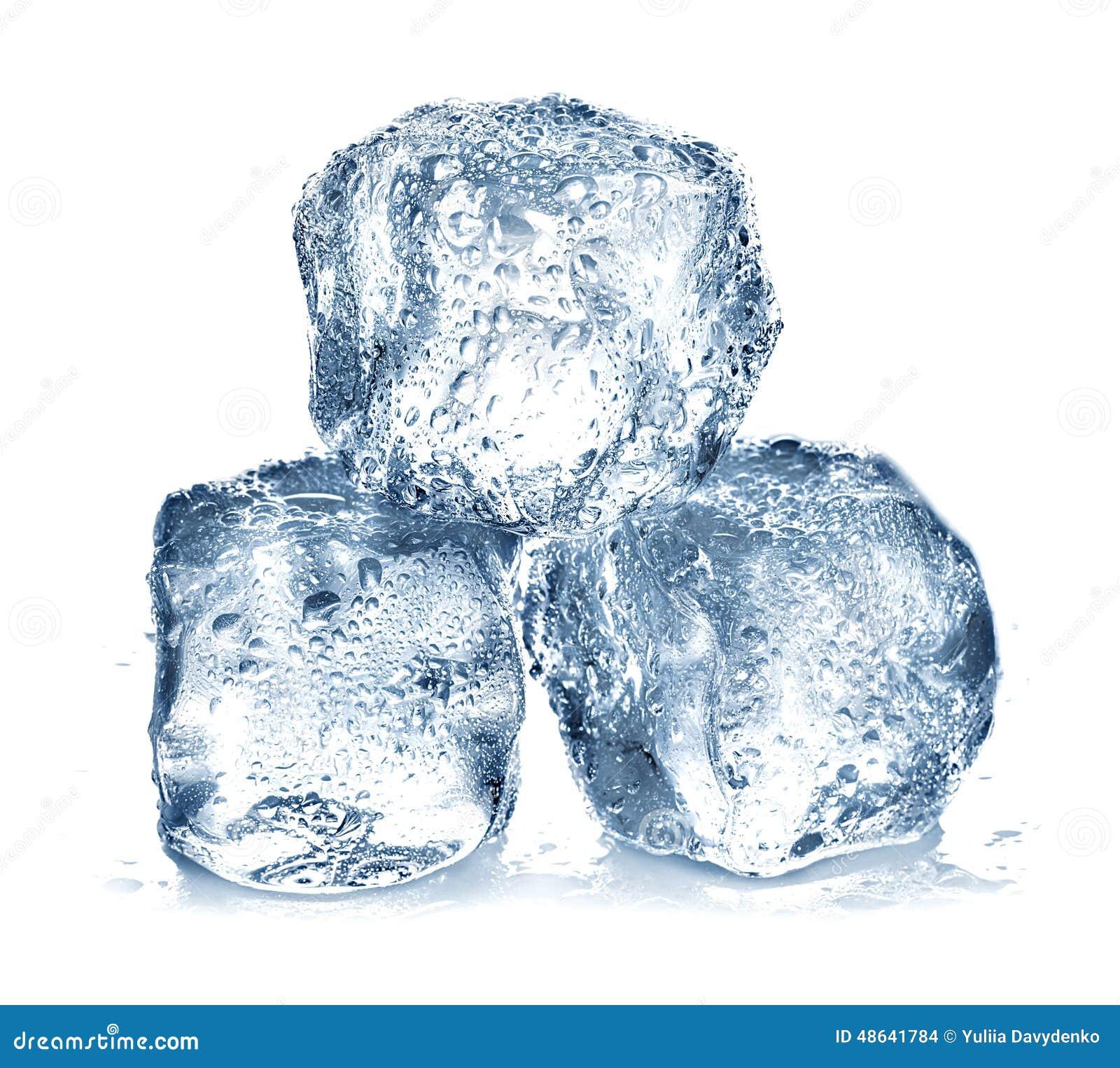 Glace de cubes d isolement