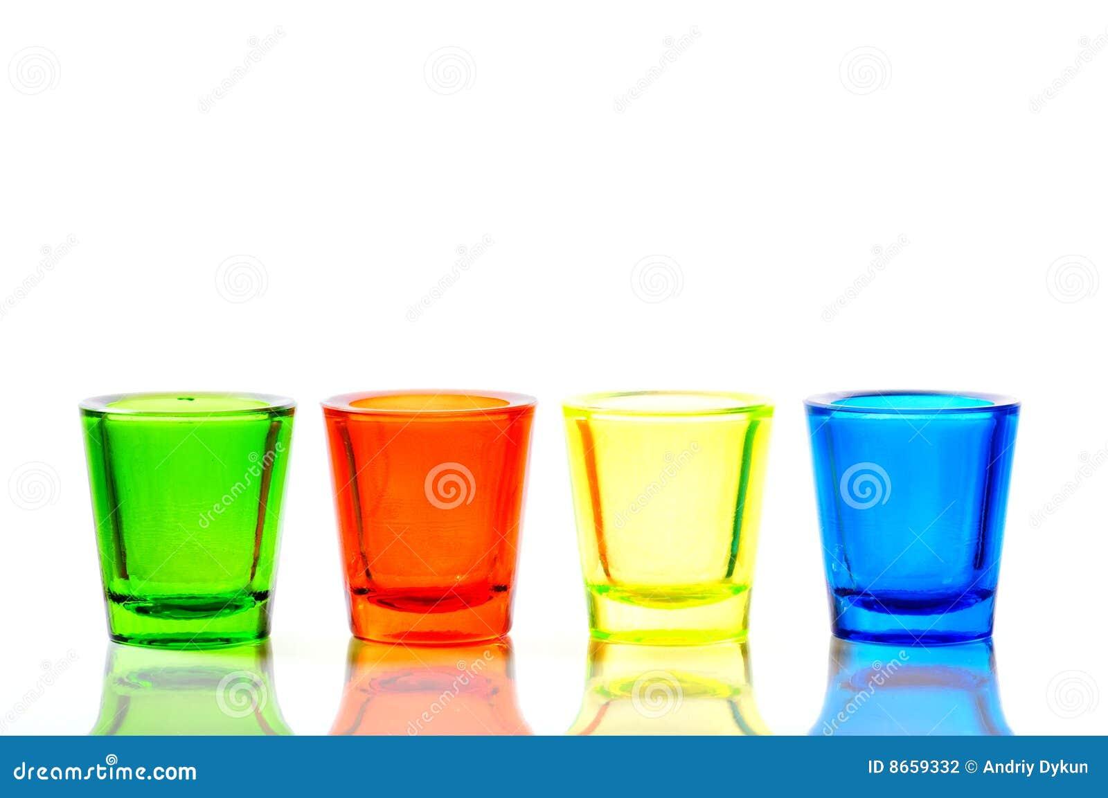 Glace de quatre couleurs