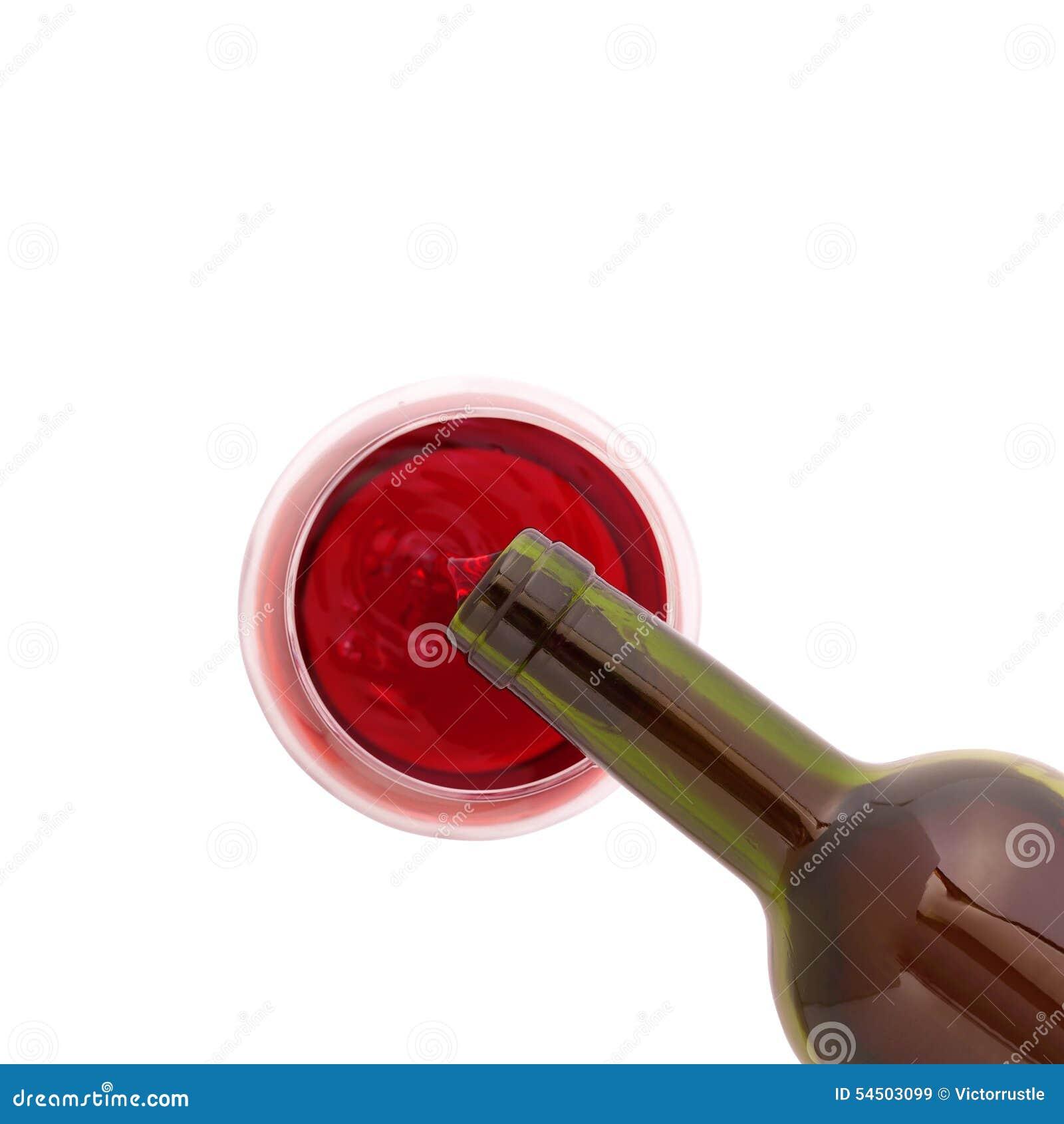 Glace de vin et de bouteille