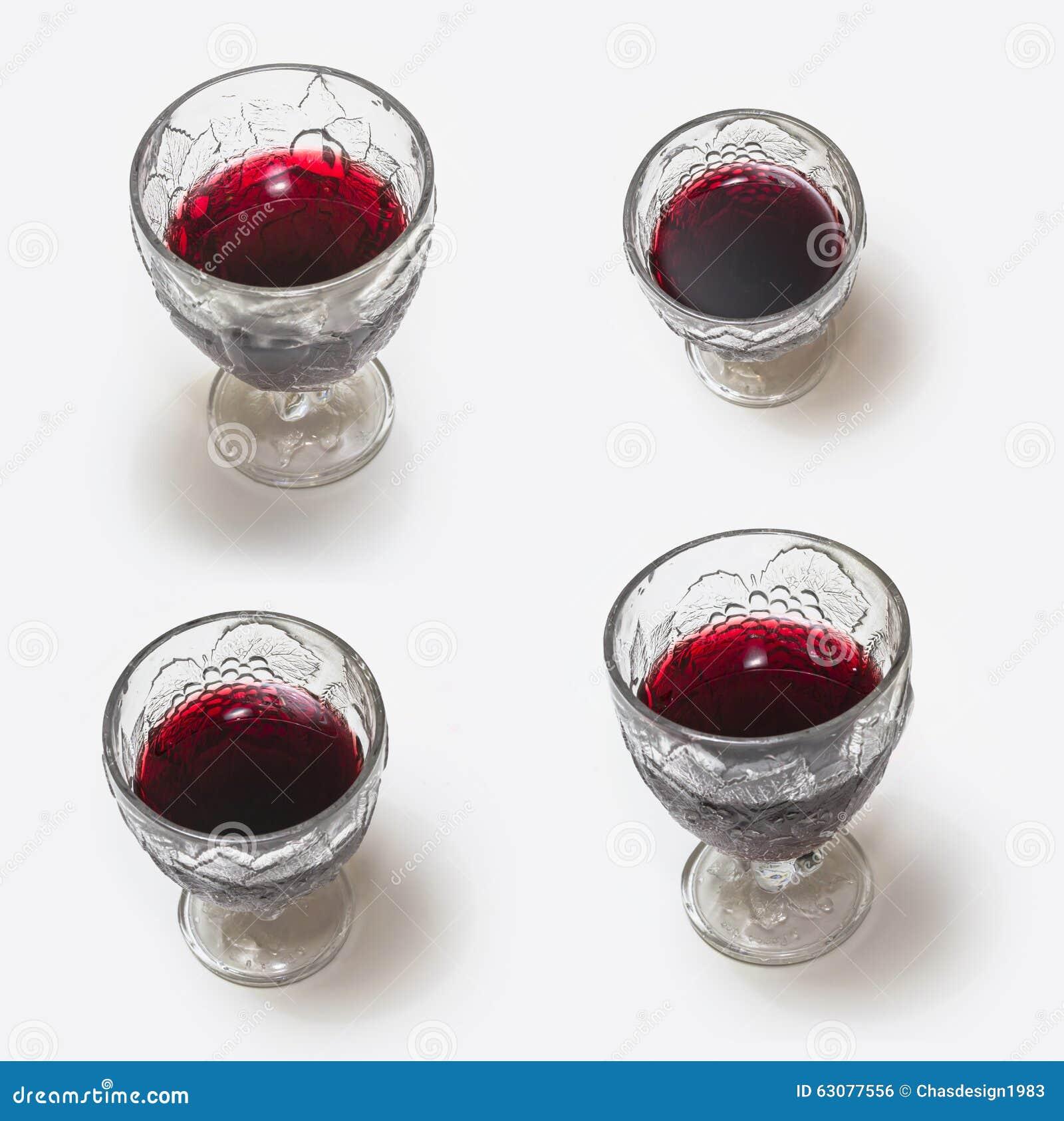Download Glace De Vin Rouge Sur Le Fond Blanc Photo stock - Image du ivre, beau: 63077556