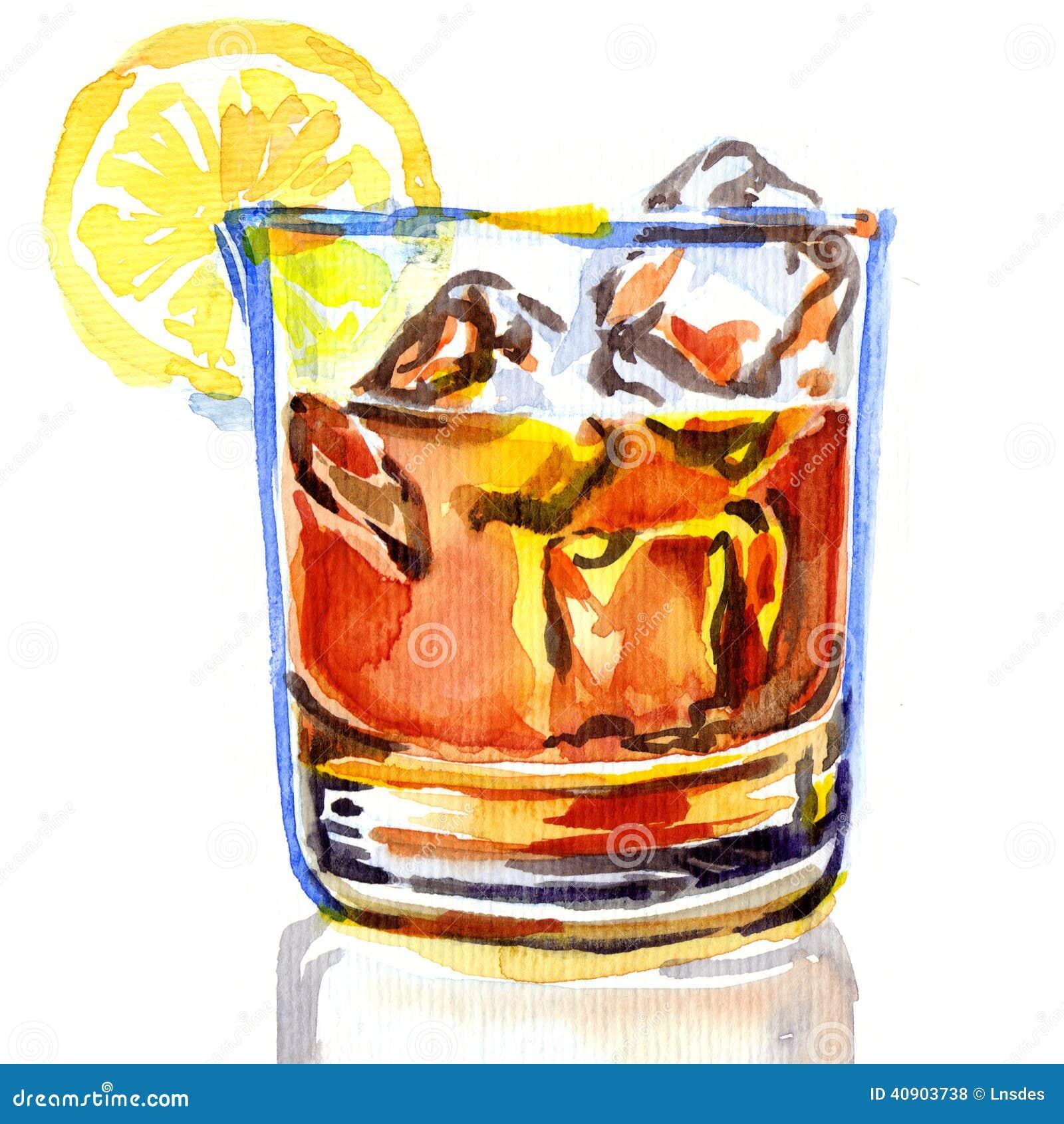 Glace de whiskey avec de la glace