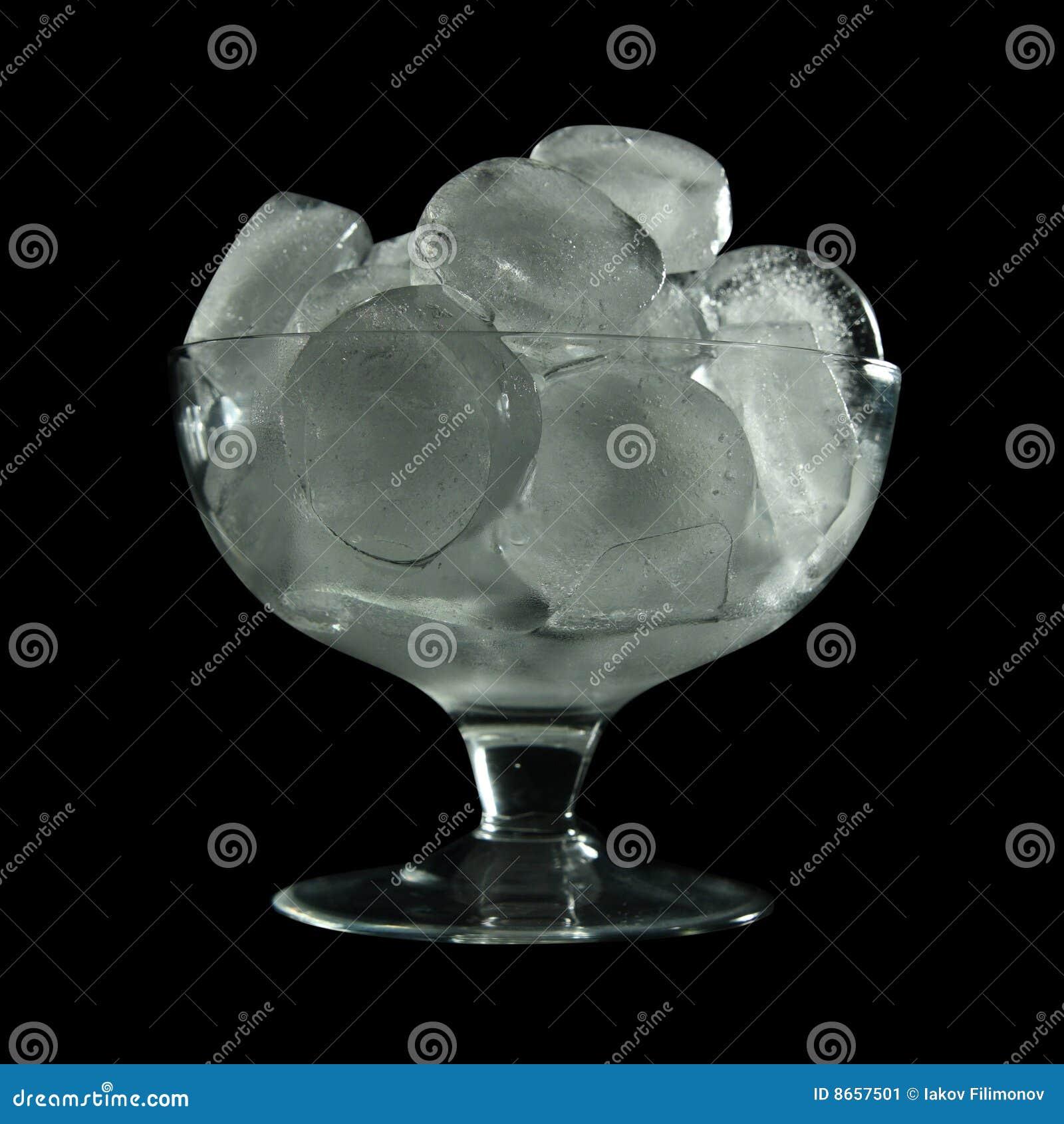 Glace en verre de cube