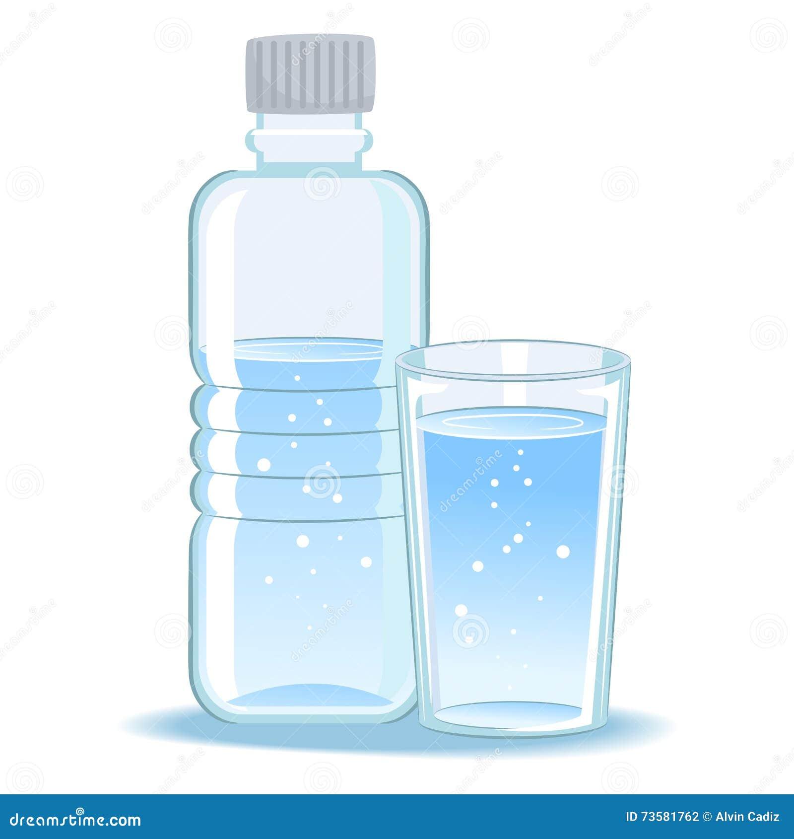 Glace et eau en bouteille