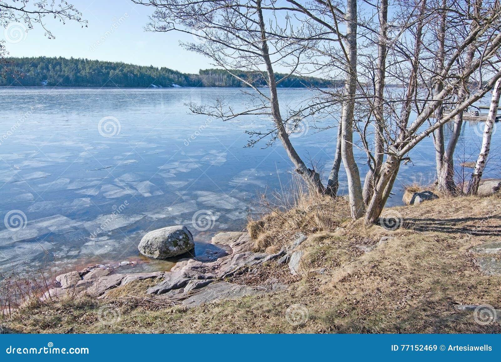 Glace sur le lac