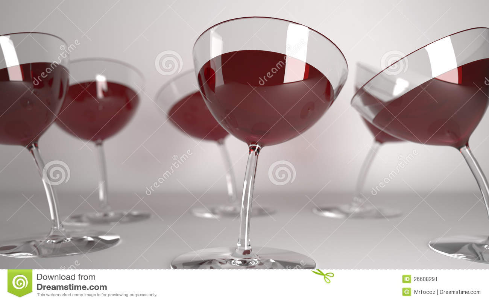 Glaces bues avec le vin rouge