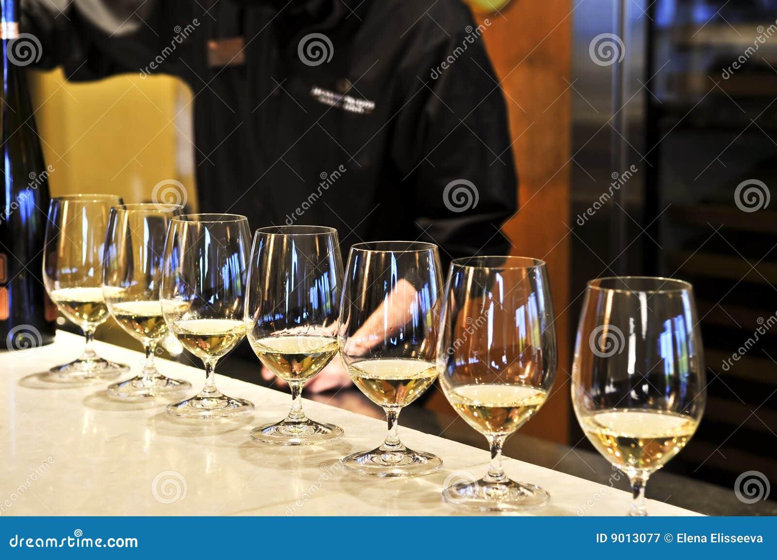 Glaces d échantillon de vin
