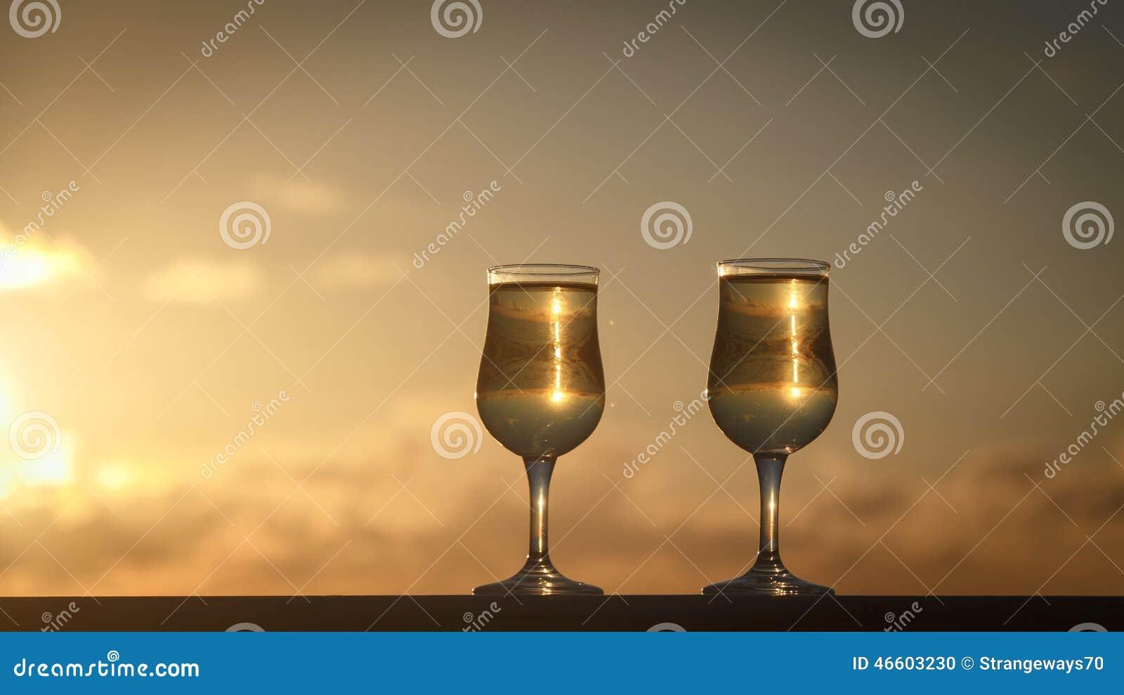 Glaces de vin blanc