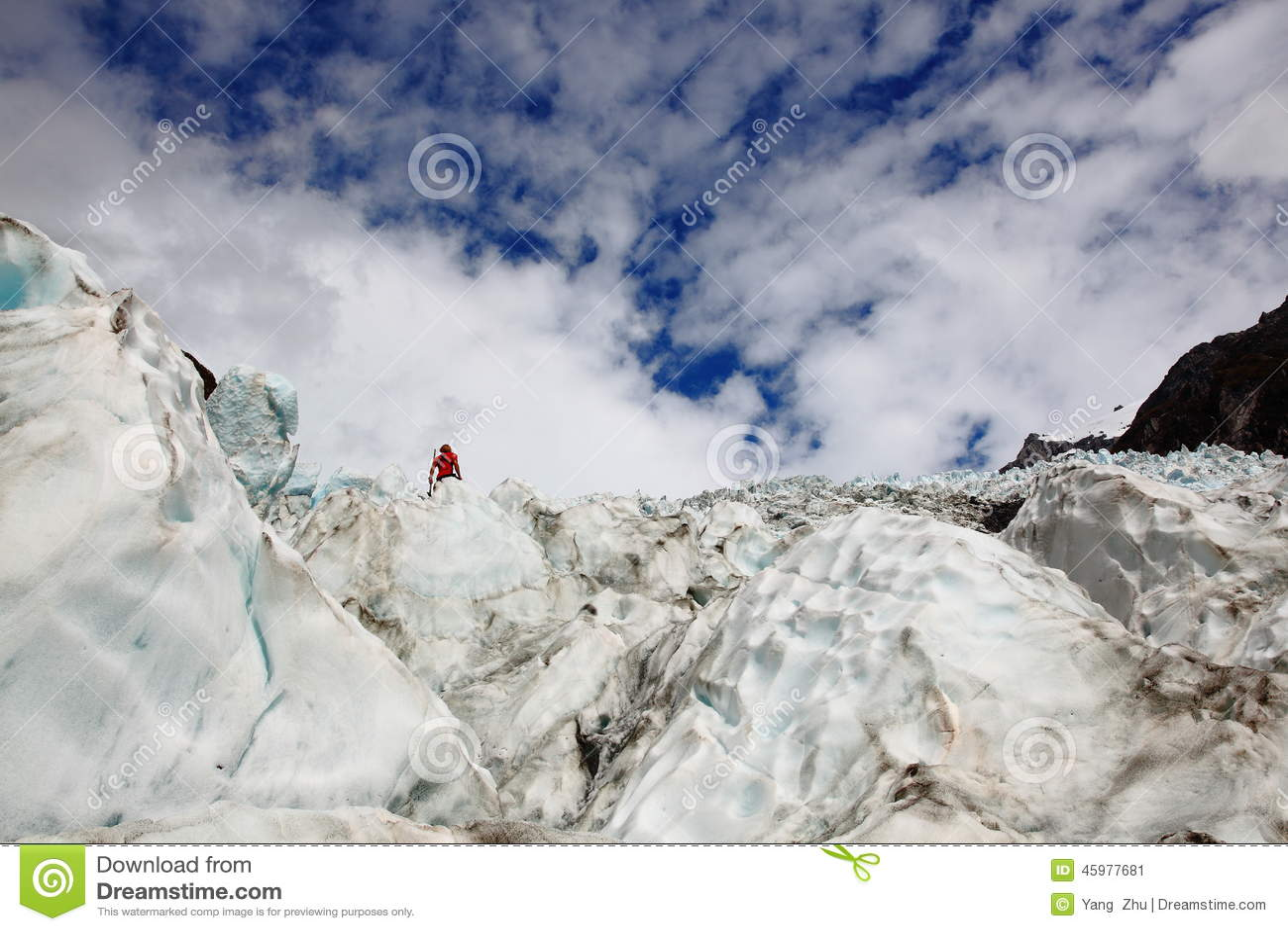 Glaciär i Nya Zeeland