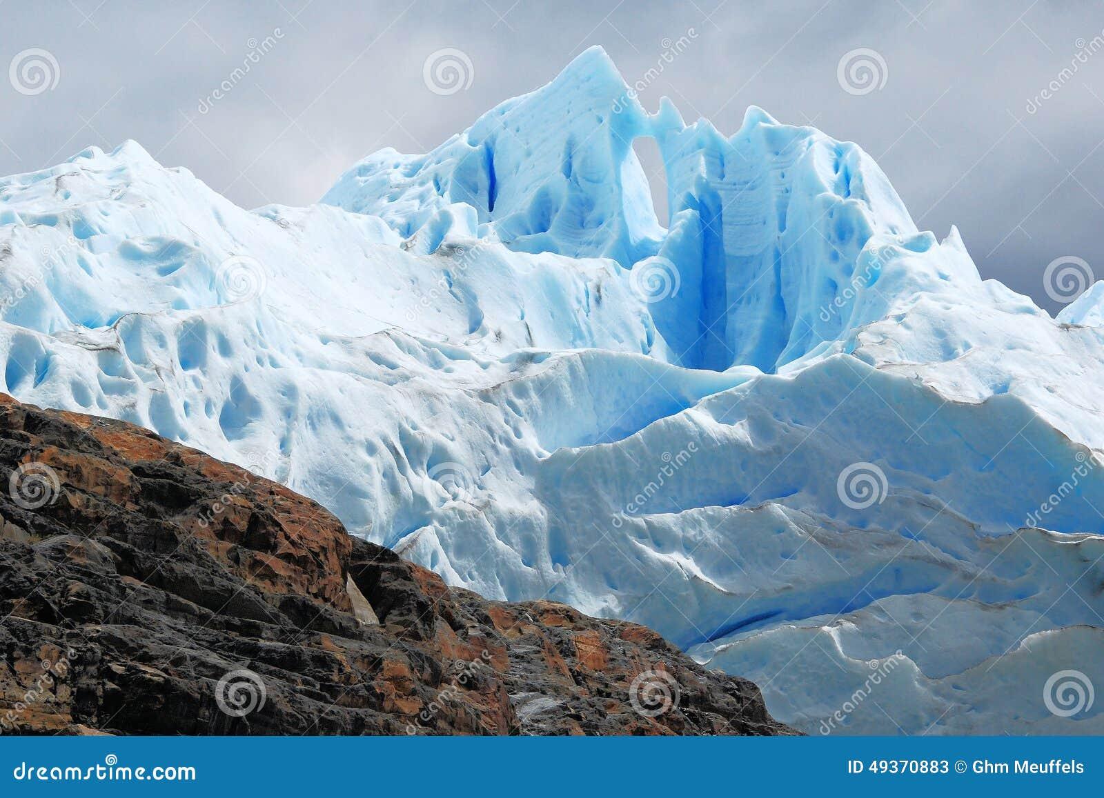 Glacial ice Perito Moreno Glacier - National Park Los Glaciares - Argentina
