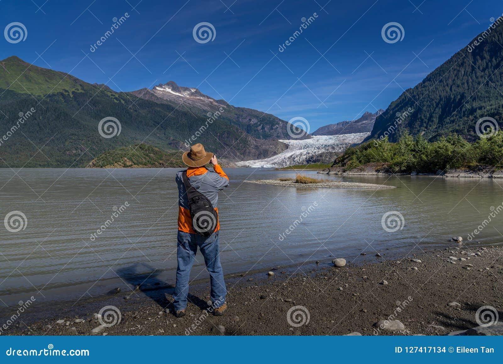 Glaciar de Mendenhall en Juneau Alaska