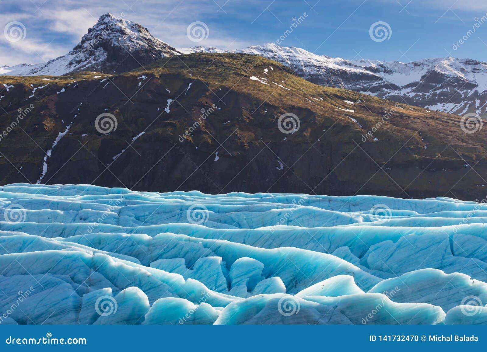 Glaciar de Skaftafell, parque nacional de Vatnajokull en Islandia