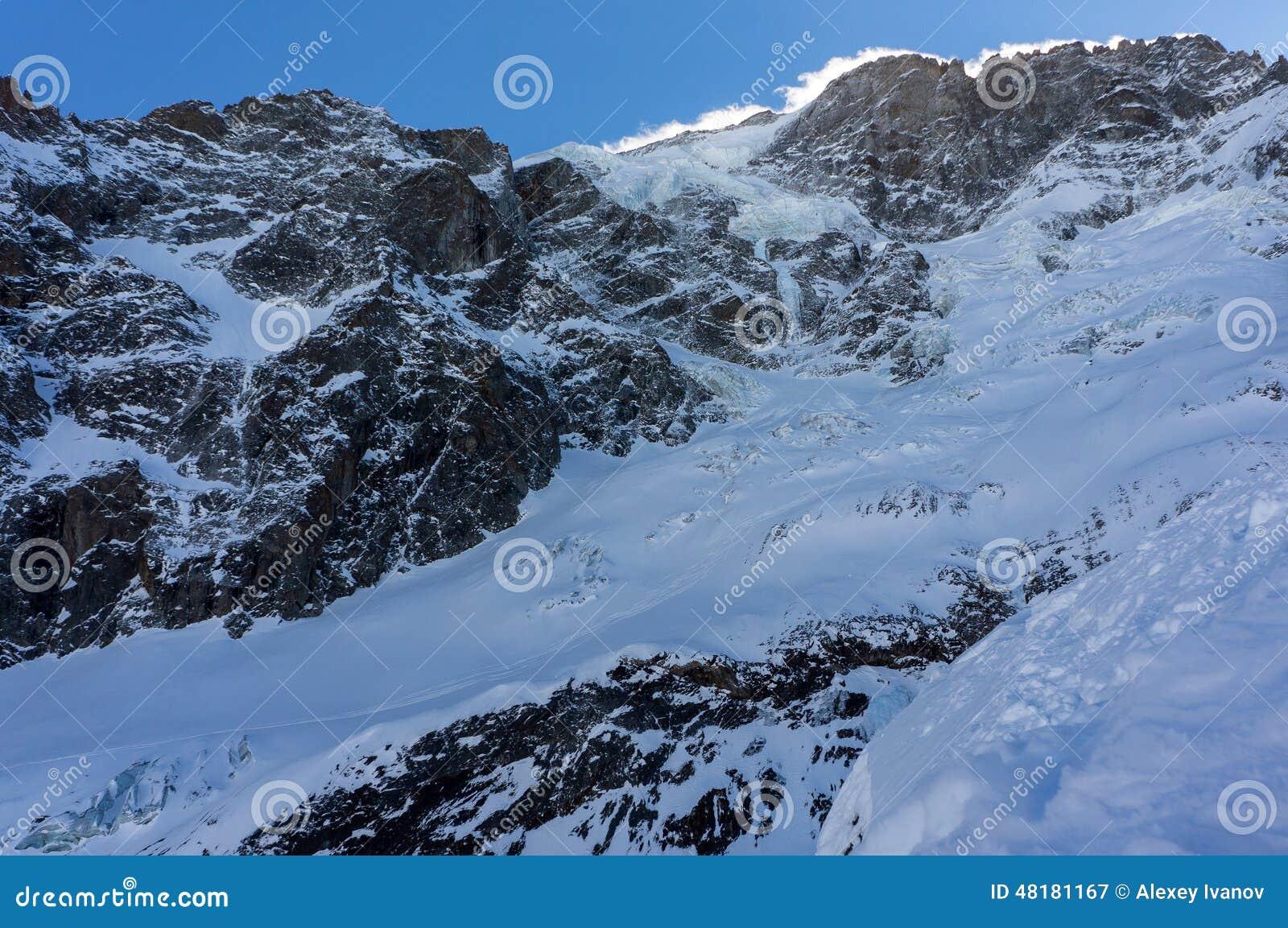 Glaciar en el La grave Meije del La
