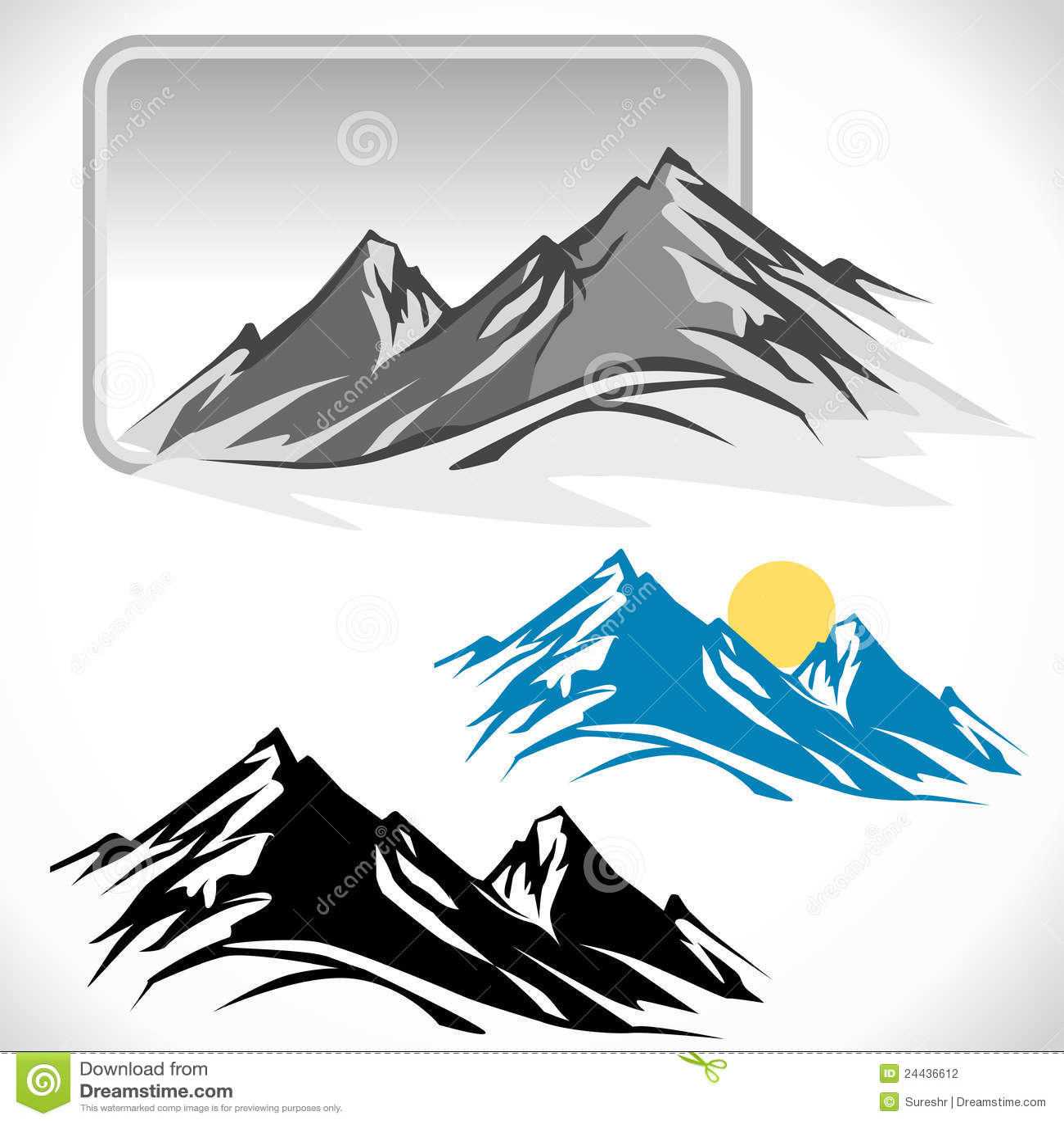 Glaciares asombrosos en picos de montaña