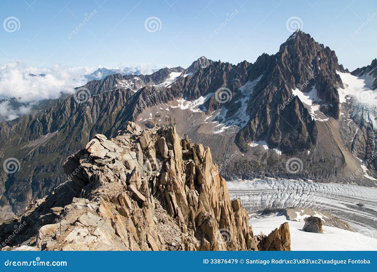 Glacier d Argentiere des Grands Montets