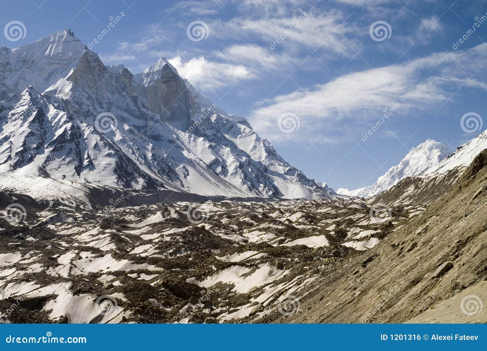 Glacier de Baghirathi Parbat et de Gangotri