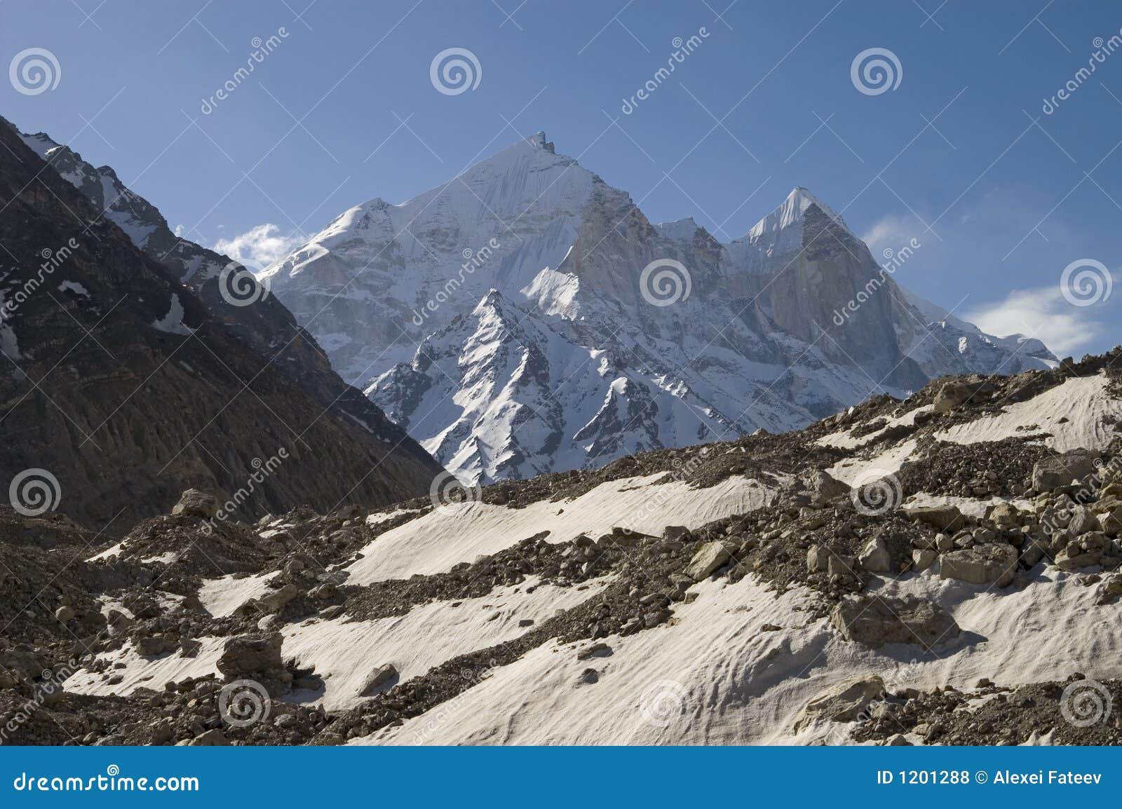 Glacier de Bhagirathi Parbat et de Gangotri