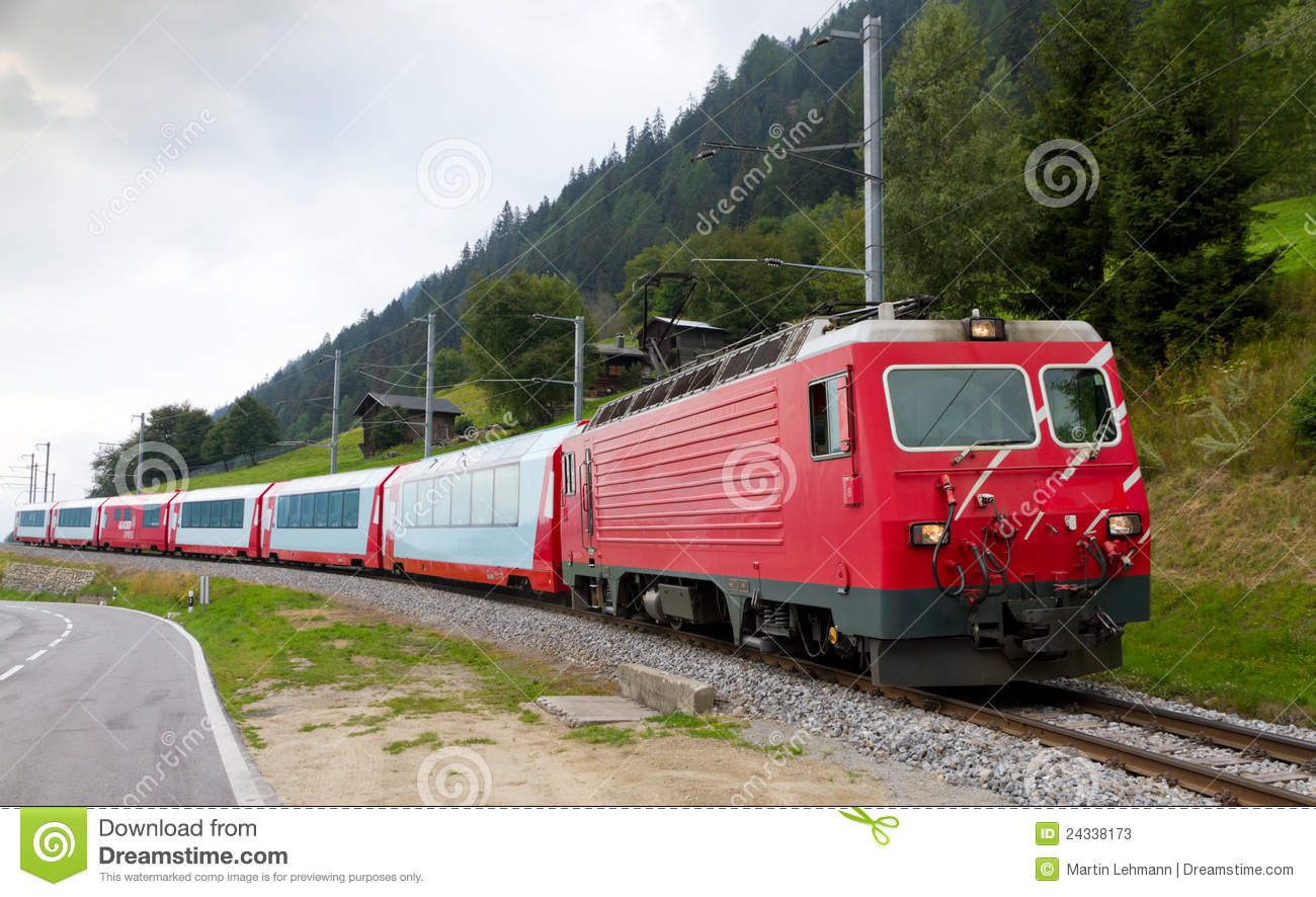 glacier express train switzerland stock photos image 24338173. Black Bedroom Furniture Sets. Home Design Ideas