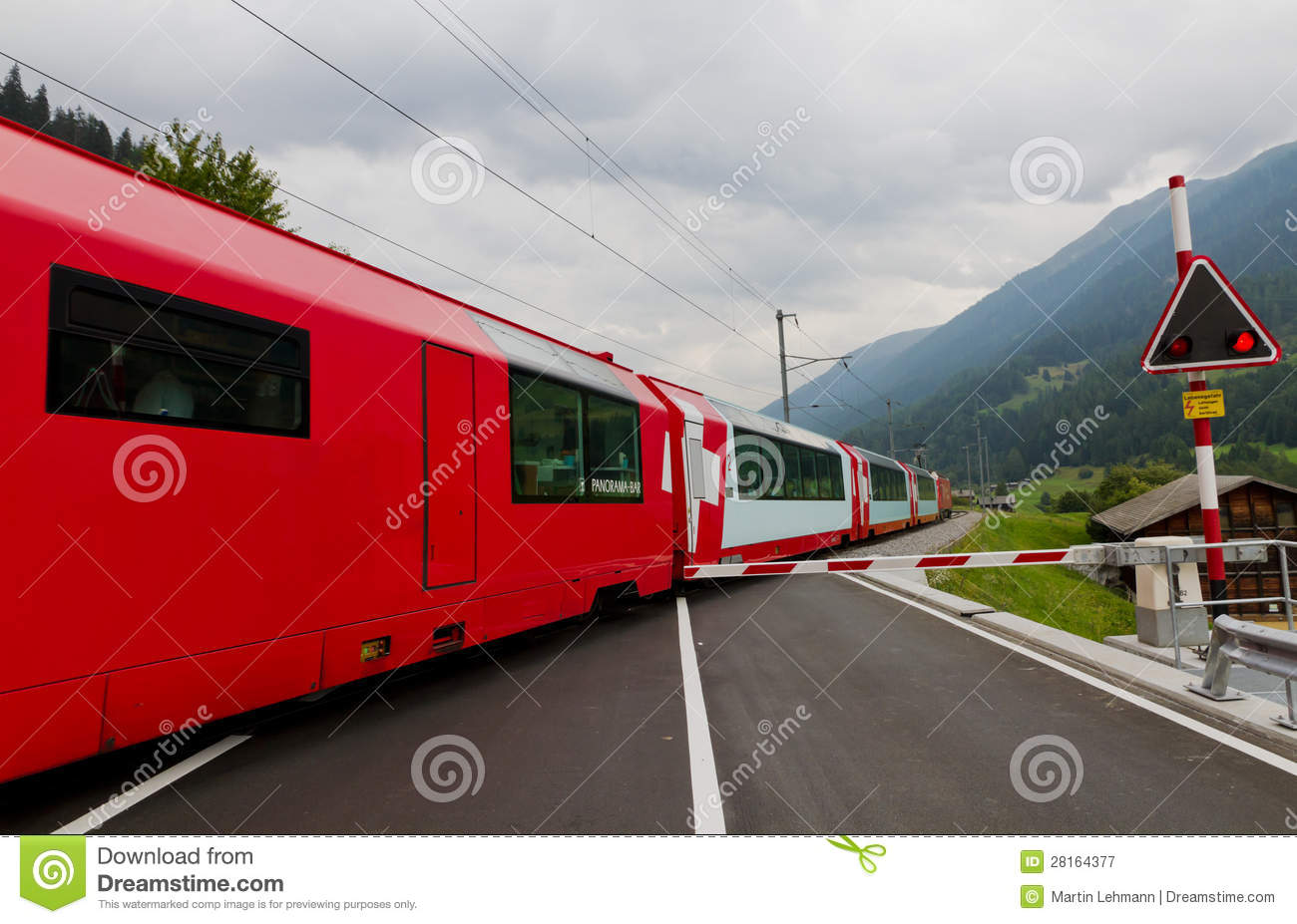 glacier express train switzerland royalty free stock photography image 28164377. Black Bedroom Furniture Sets. Home Design Ideas