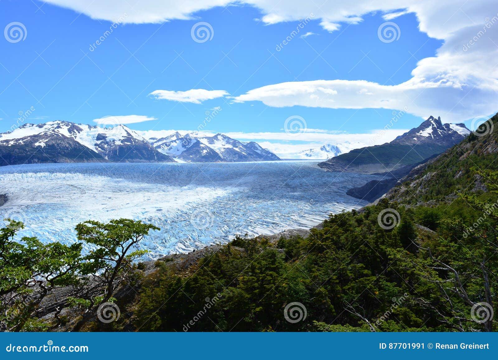 Glacier gris à l intérieur du parc national de Torres del Paine, Chili