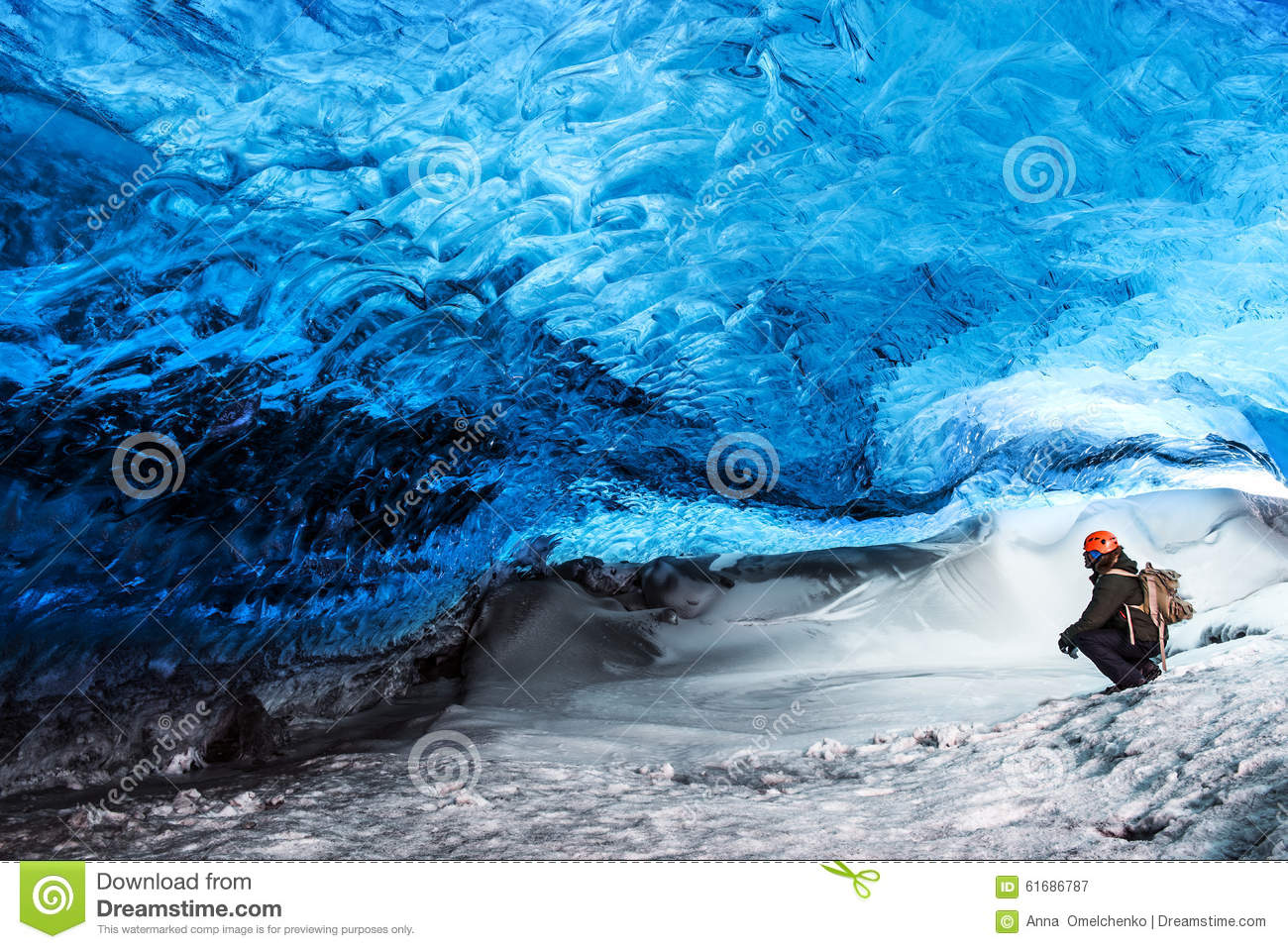 Glacier ice cave of Iceland