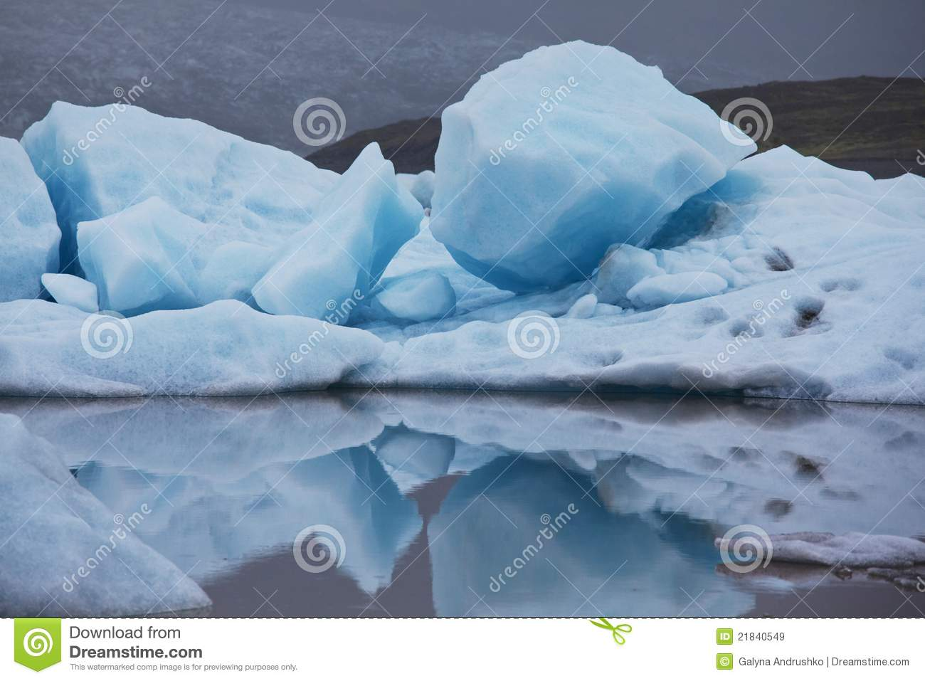 Glacier In Iceland Royalty Free Stock Images - Image: 21840549