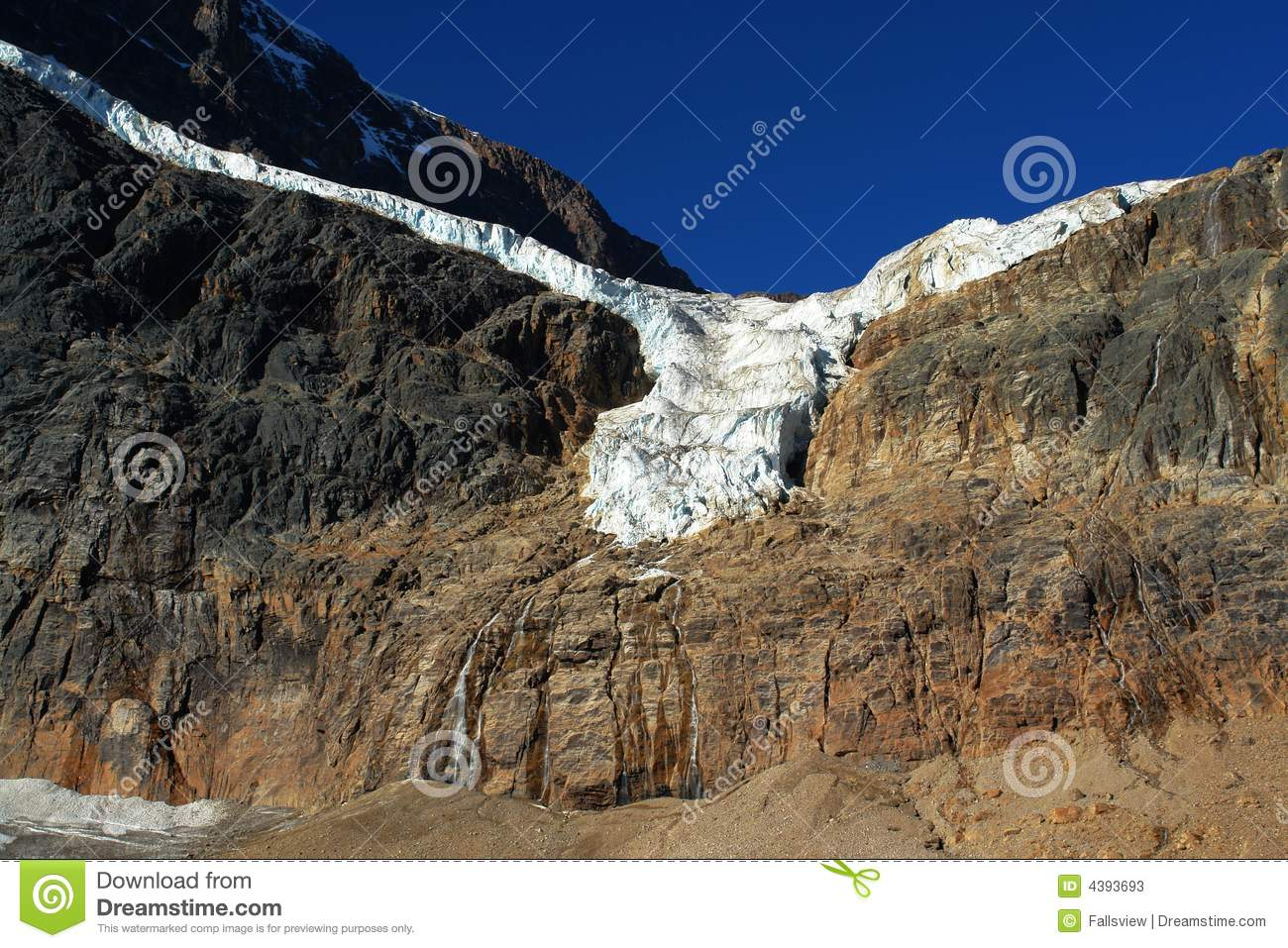 Glacier in mount edith