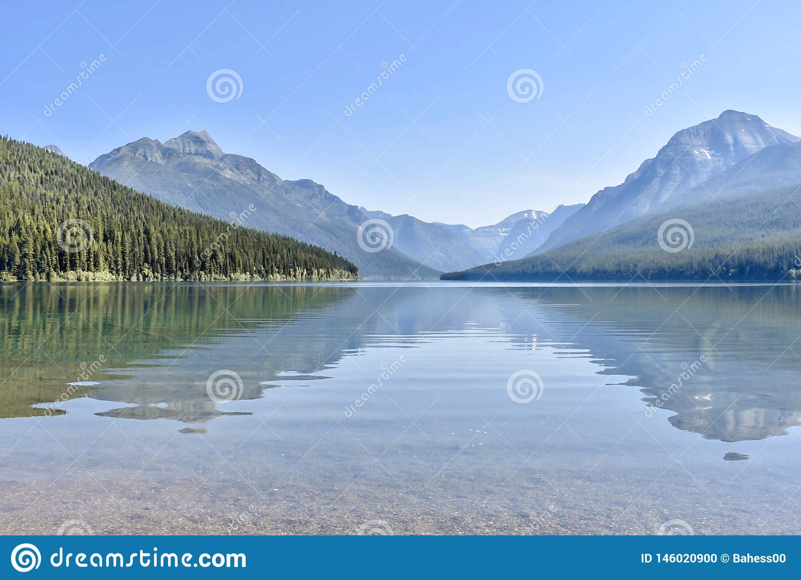Glacier National Park del lago bowman, Montana