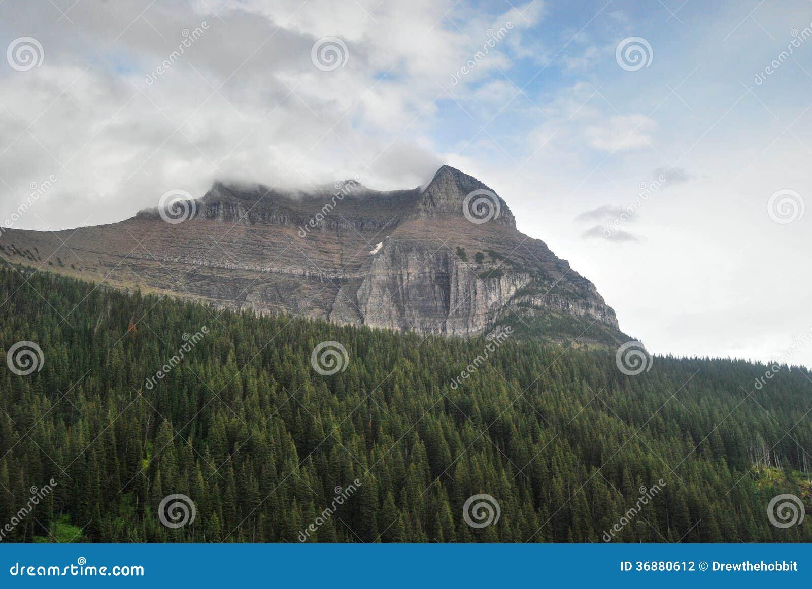 Download Glacier National Park Nel Montana Fotografia Stock - Immagine di picco, scogliera: 36880612