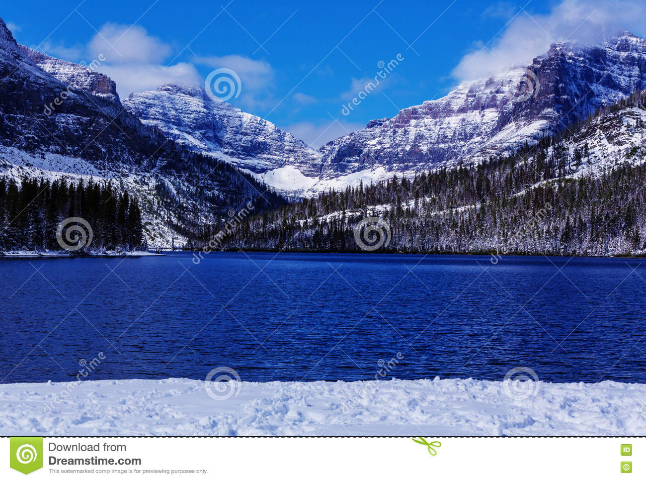 Glacier Park in winter