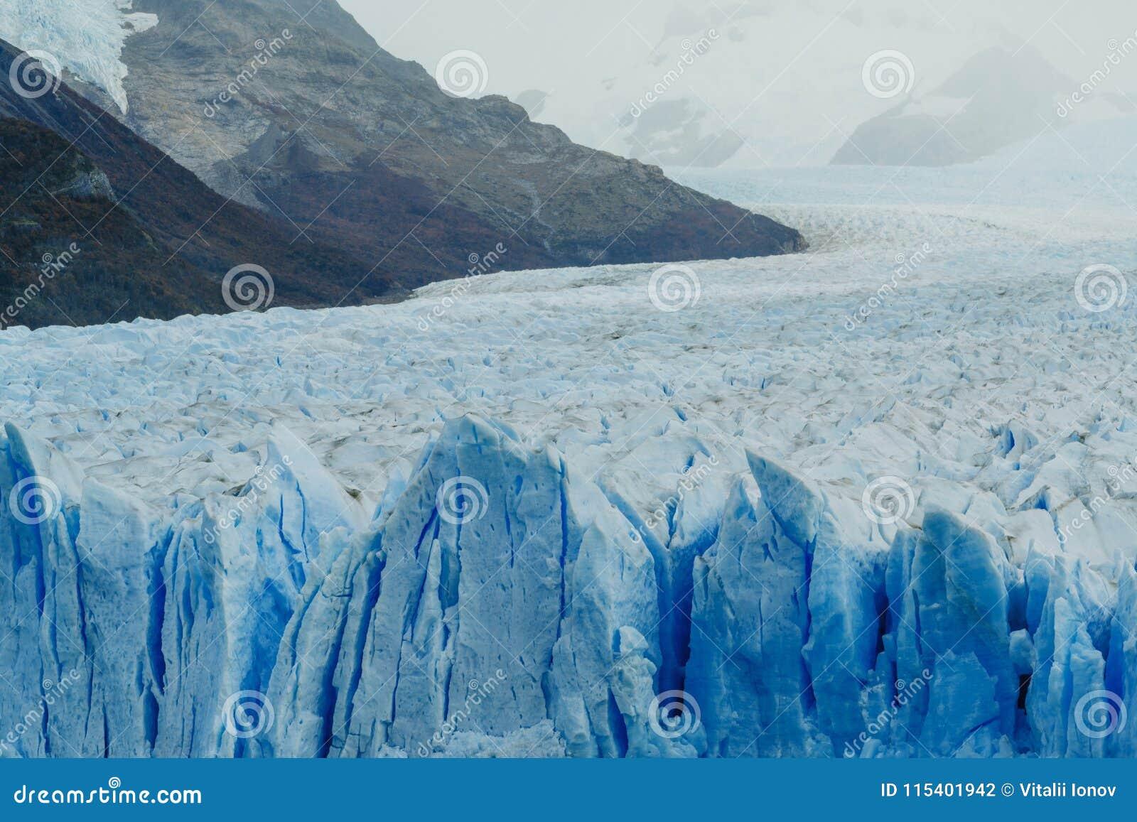 Glacier Perito Moreno in the park Los Glaciares. Autumn in Patagonia, the Argentine side